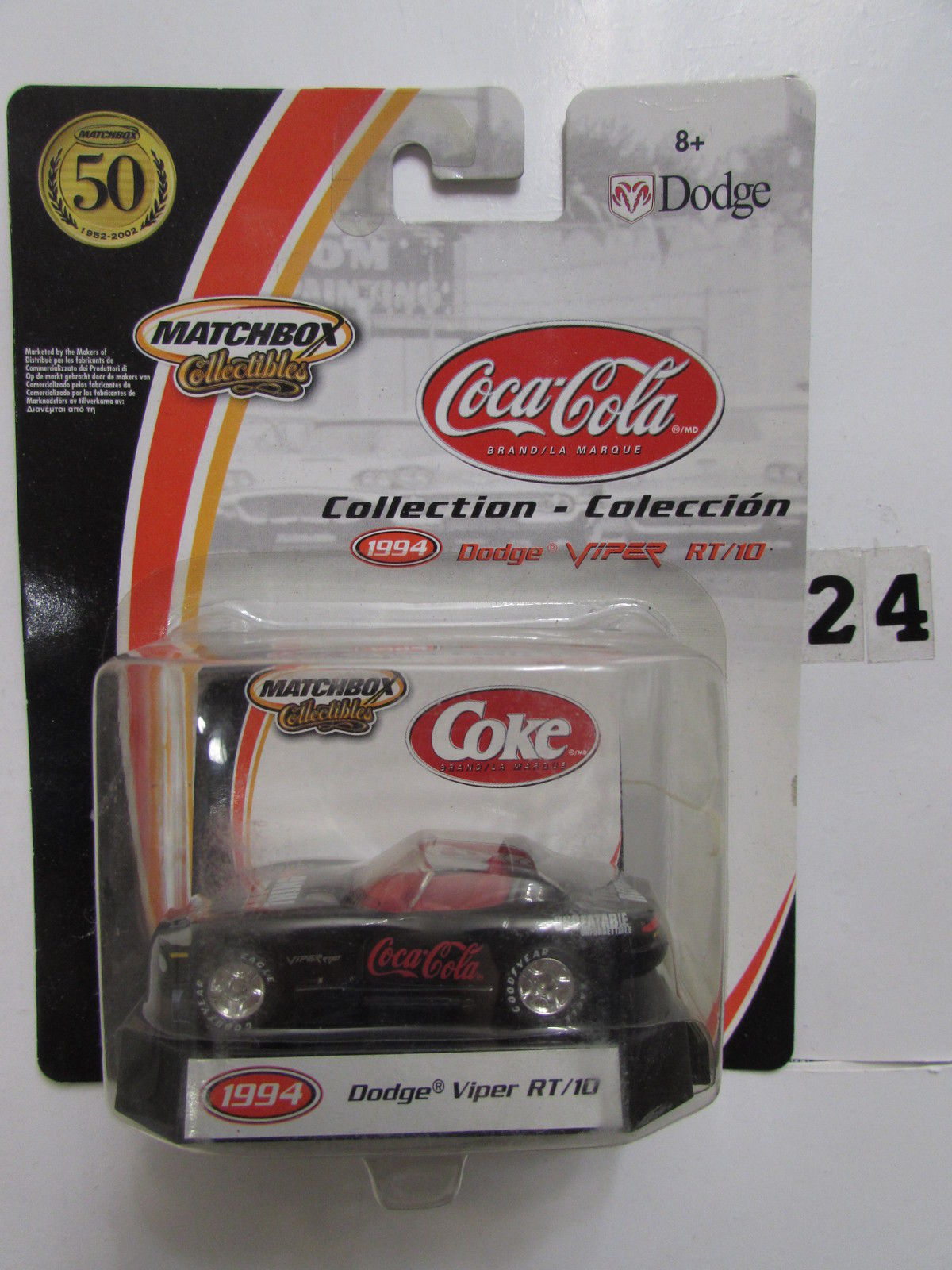 MATCHBOX COCA COLA COLLECTION DODGE VIPER RT/10 1994