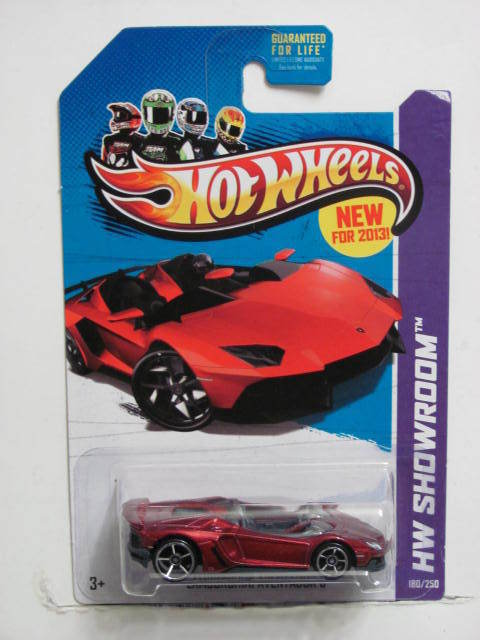 HOT WHEELS 2013 HW SHOWROOM LAMBORGHINI AVENTADOR J HW ALL STARS E+