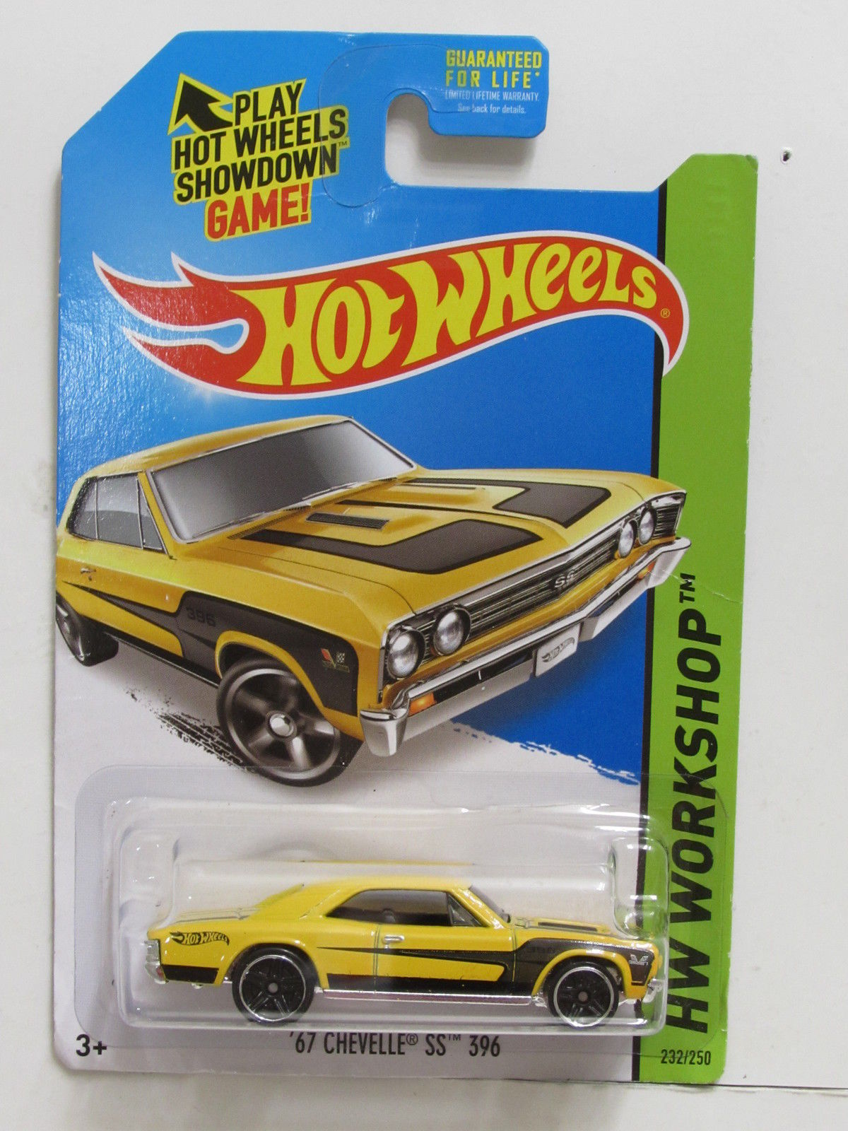 HOT WHEELS 2014 HW WORKSHOP - MUSCLE MANIA '67 CHEVELLE SS 396