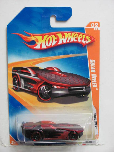 HOT WHEELS 2009 TRACK STARS SOLAR REFLEX RED