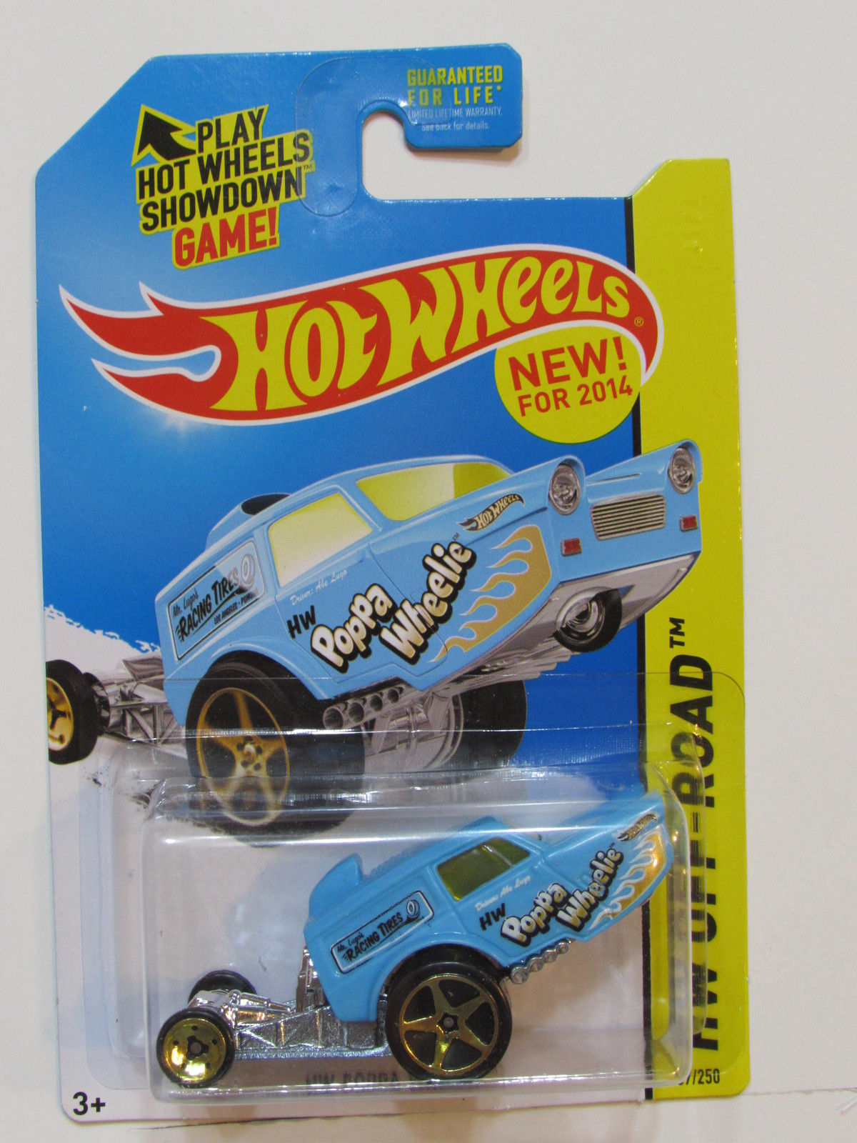HOT WHEELS 2014 HW OFF ROAD HW DAREDEVILS HW POPPA WHEELIE BLUE