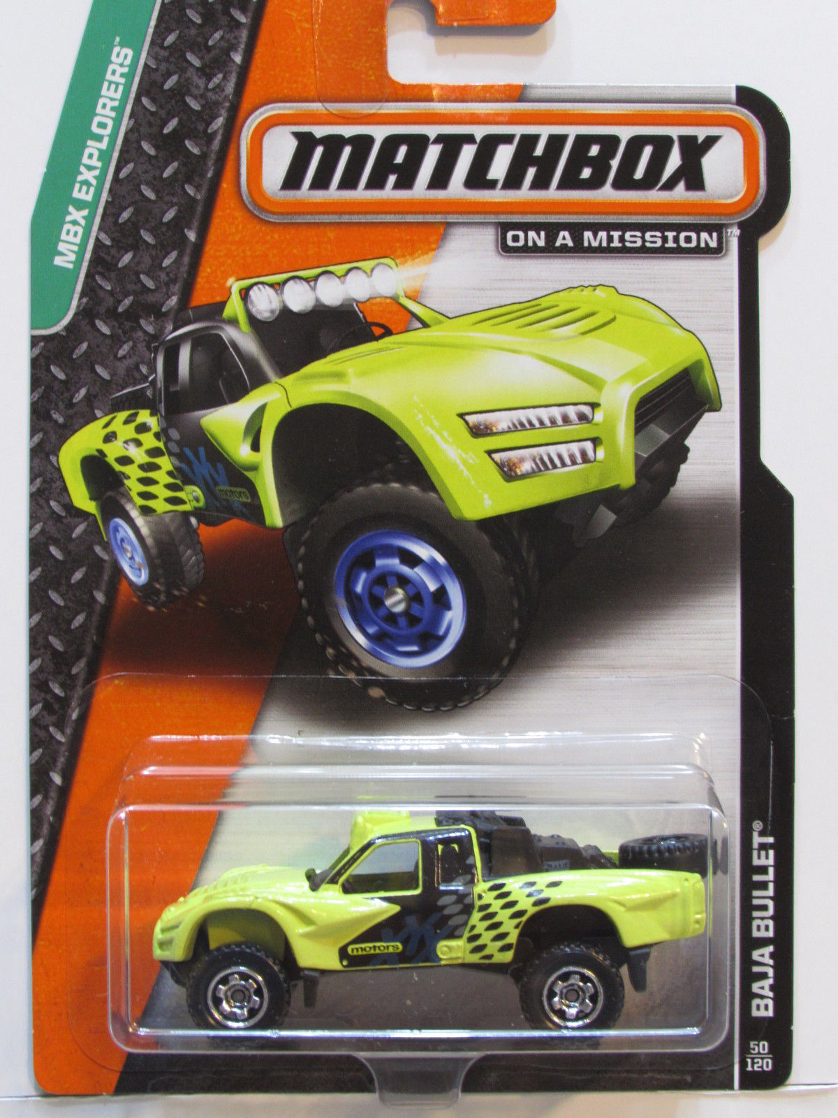 MATCHBOX 2014 ON A MISSION BAJA BULLET YELLOW
