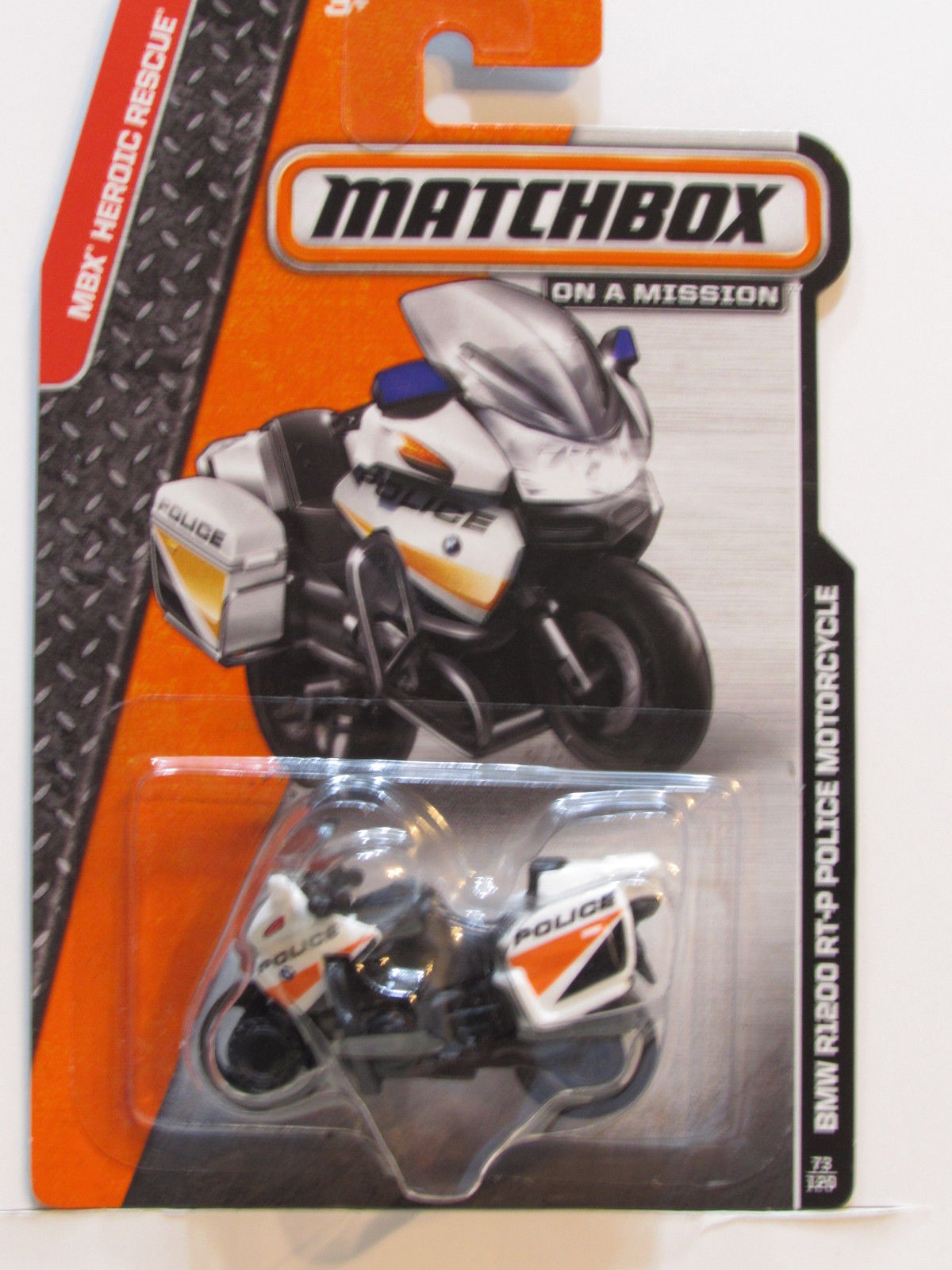MATCHBOX 2014 ON A MISSION BMW R1200 RT-P POLICE MOTORCYCLE