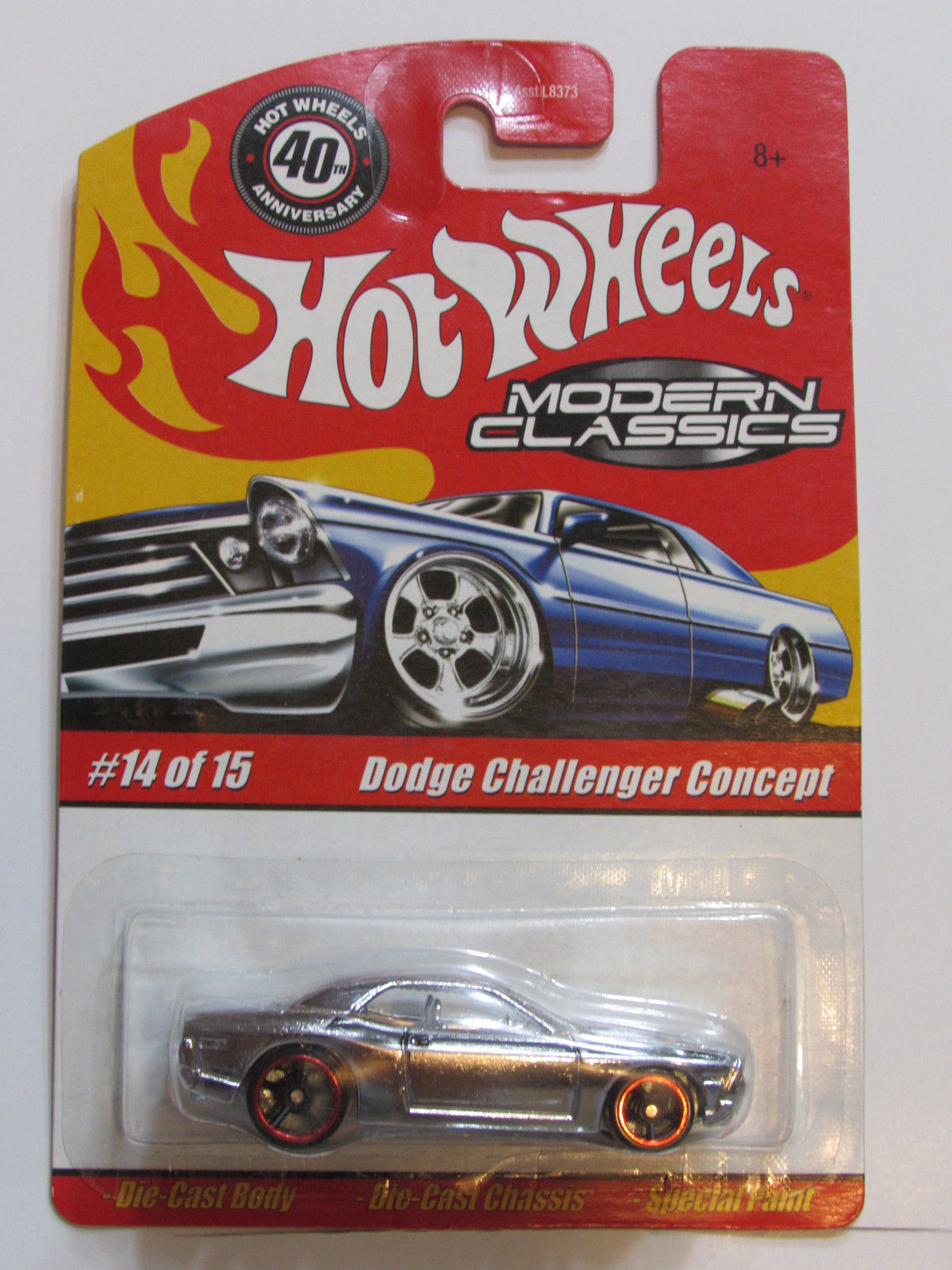 HOT WHEELS CLASSICS MODERN CLASSICS #14/15 DODGE CHALLENGER CONCEPT CHROME