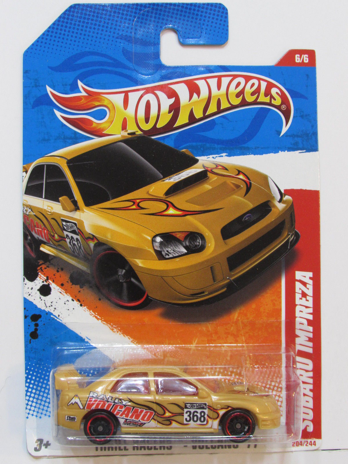 HOT WHEELS 2011 THRILL RACERS SUBARU IMPREZA