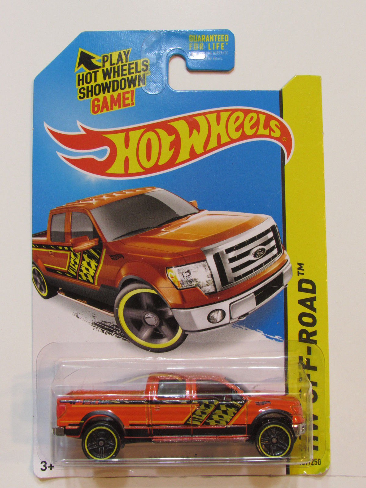 HOT WHEELS 2014 HW OFF ROAD HW HOT TRUCKS 2009 FORD F-150 ORANGE