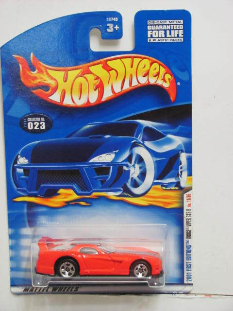 HOT WHEELS 2001 FIRST EDITIONS DODGE VIPER GTS-R #023
