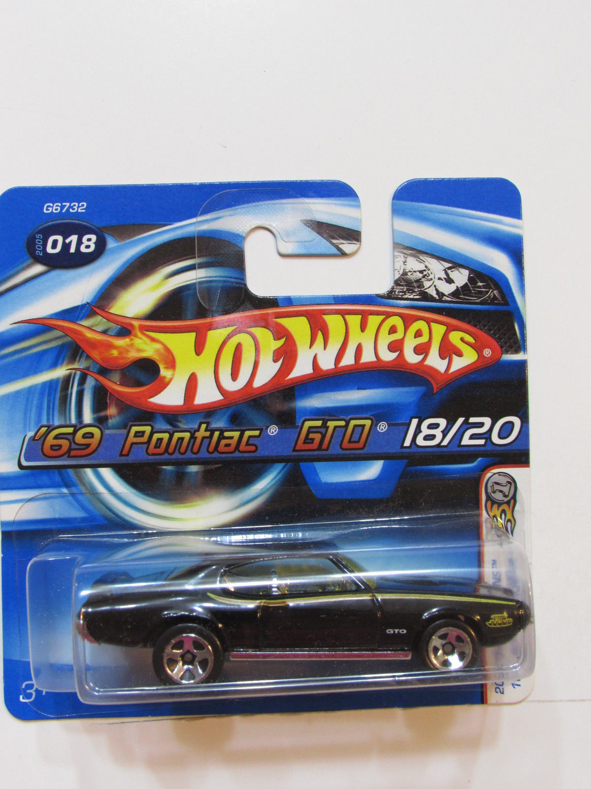 HOT WHEELS 2005 MUSCLE MANIA '69 PONTIAC GTO #108 SHORTCARD