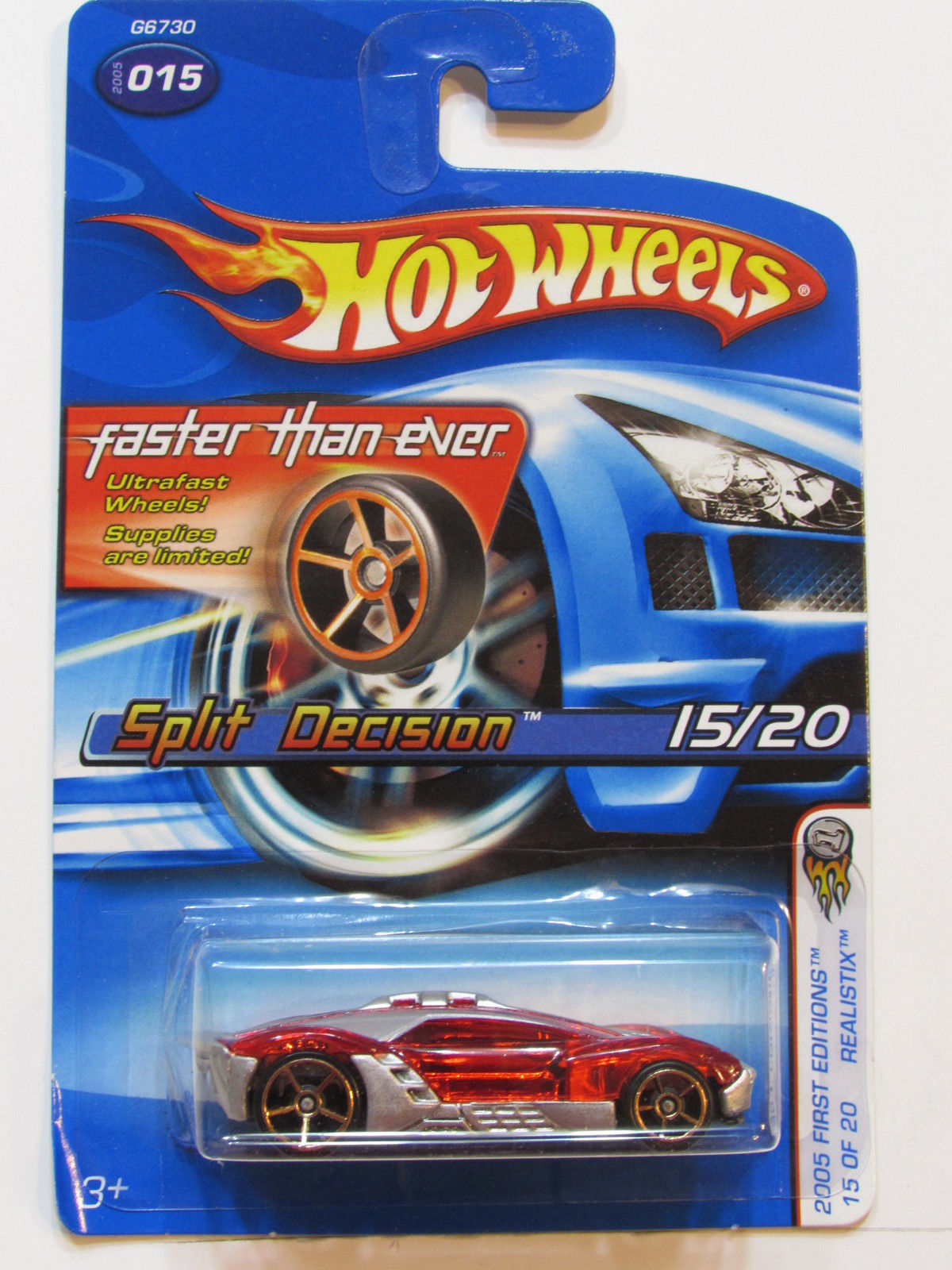 HOT WHEELS 2005 FIRST EDITIONS FTE SPLIT DECISION - REALISTIX #015