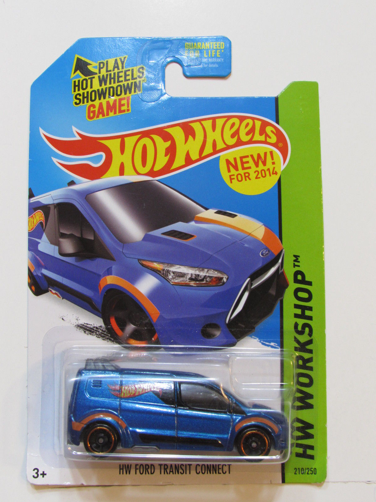 HOT WHEELS 2014 HW WORKSHOP - HW GARAGE HW FORD TRANSIT CONNECT