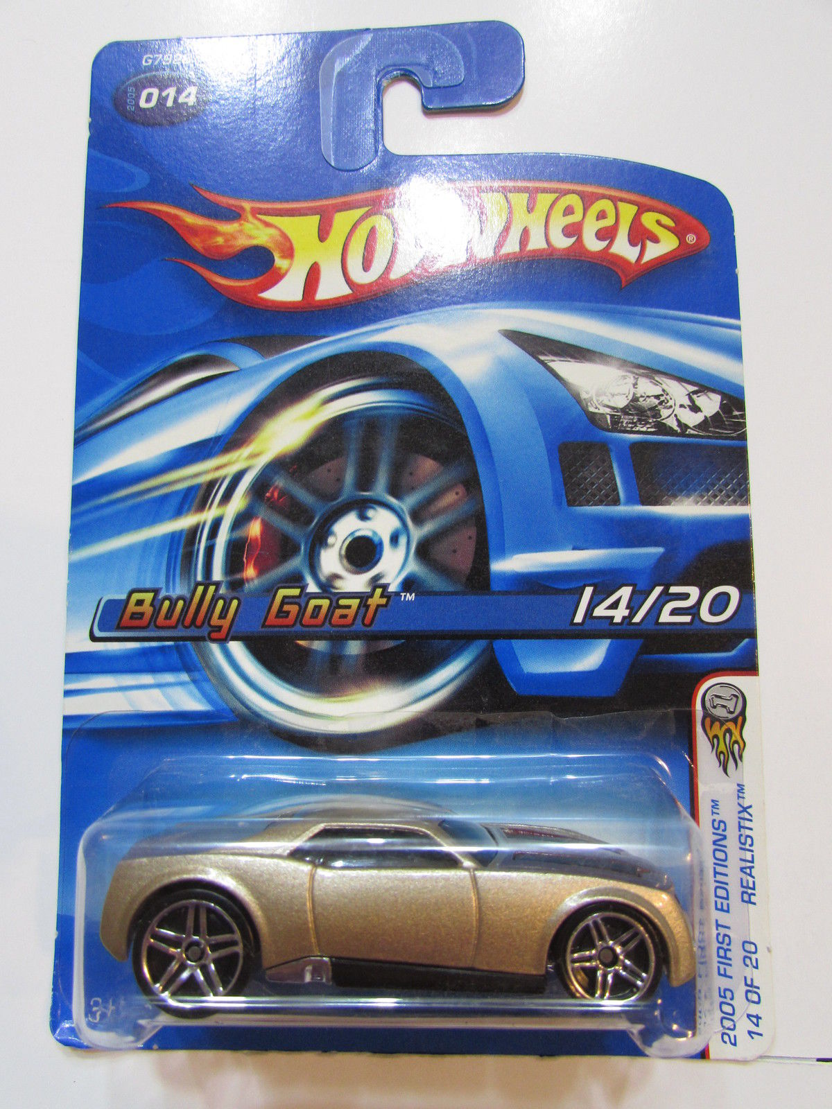 HOT WHEELS 2005 FIRST EDITIONS BULLY GOAT GOLD #014 REALISTIX