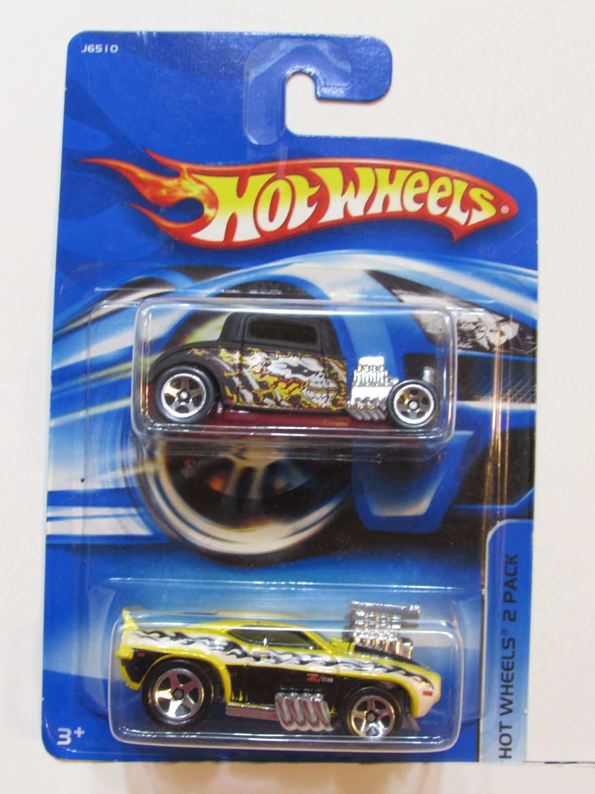 HOT WHEELS 2 CAR PACK '37 FORD - '69 CAMARO Z28 E+