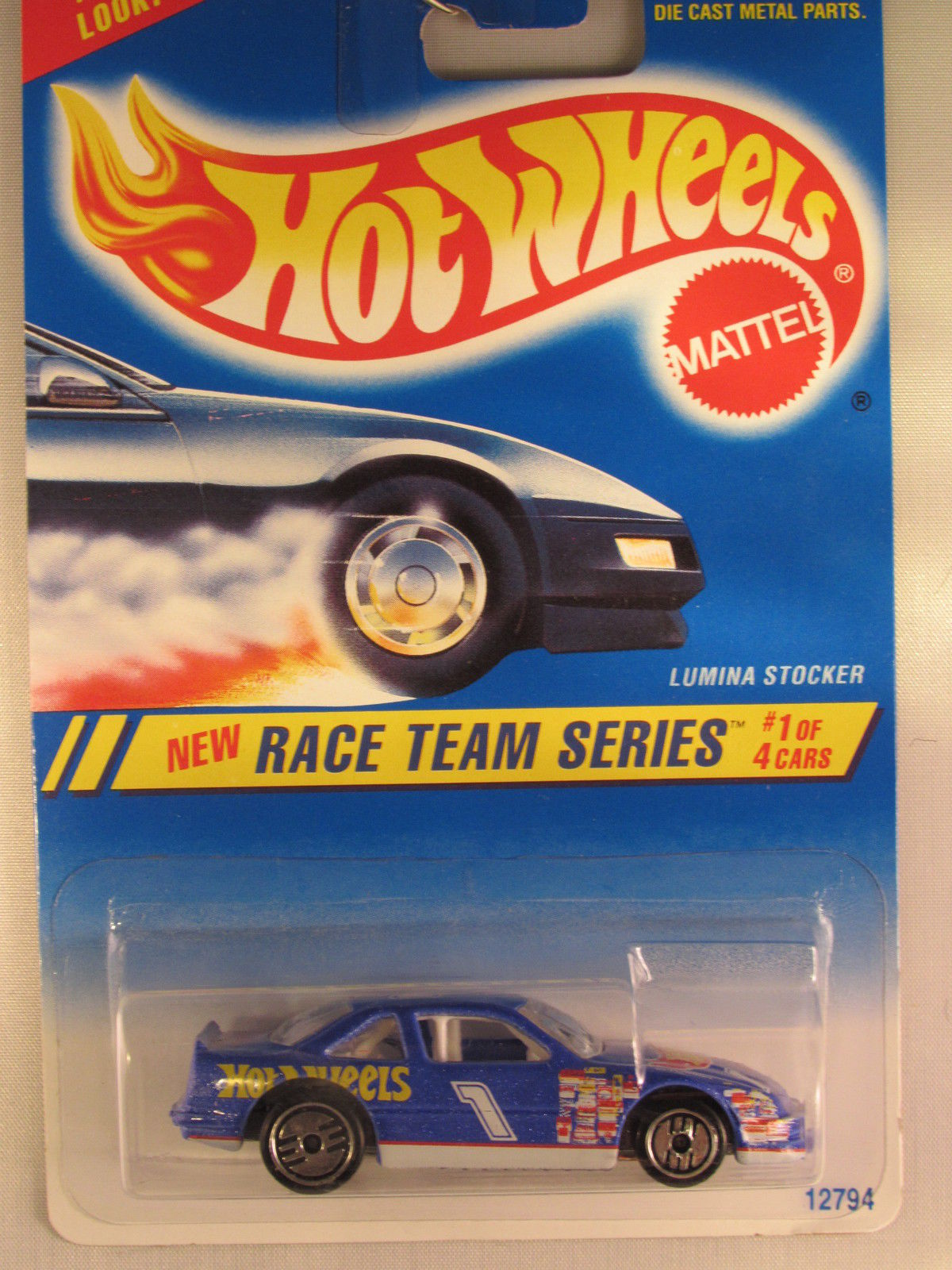 HOT WHEELS 1994 RACE TEAM SERIES LUMINA STOCKER LIGHT BLUE