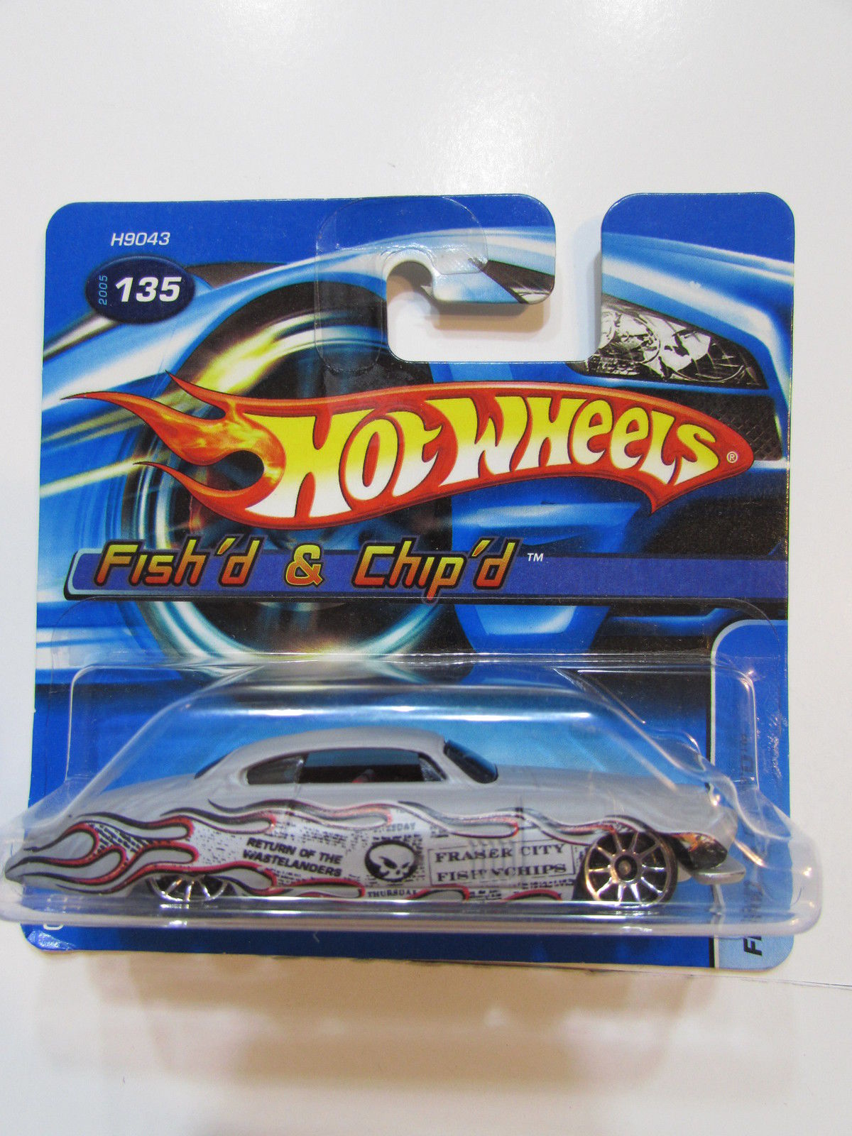 HOT WHEELS 2005 FISH'D & CHIP'D COLLECT #135 GRAY SHORTCARD
