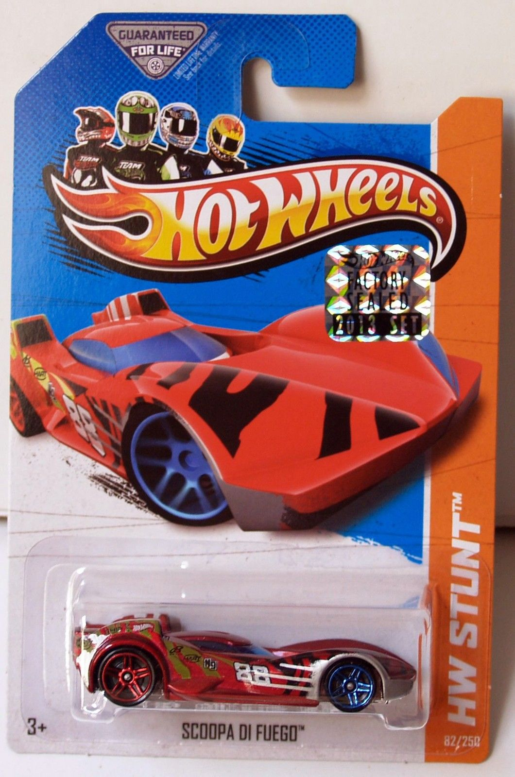 HOT WHEELS 2013 HW STUNT DRIFT RACE SCOOPA DI FUEGO FACTORY SEALED