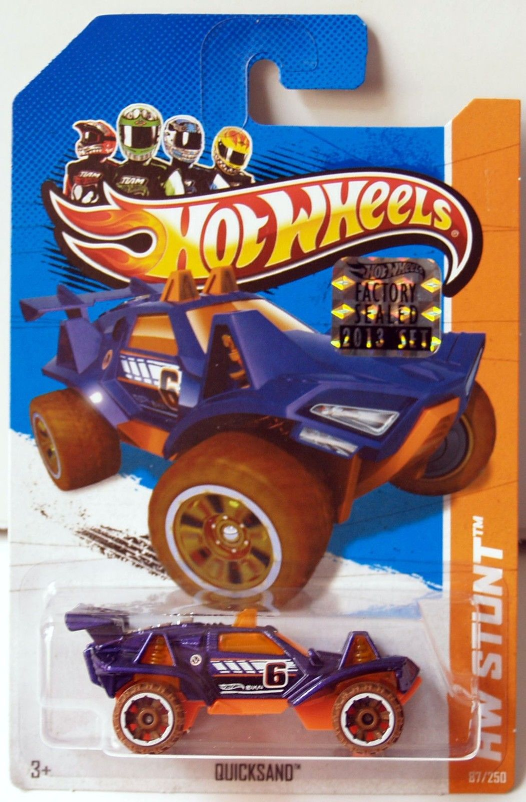 HOT WHEELS 2013 HW STUNT DESERT FORCE QUICKSAND PURPLE FACTORY SEALED