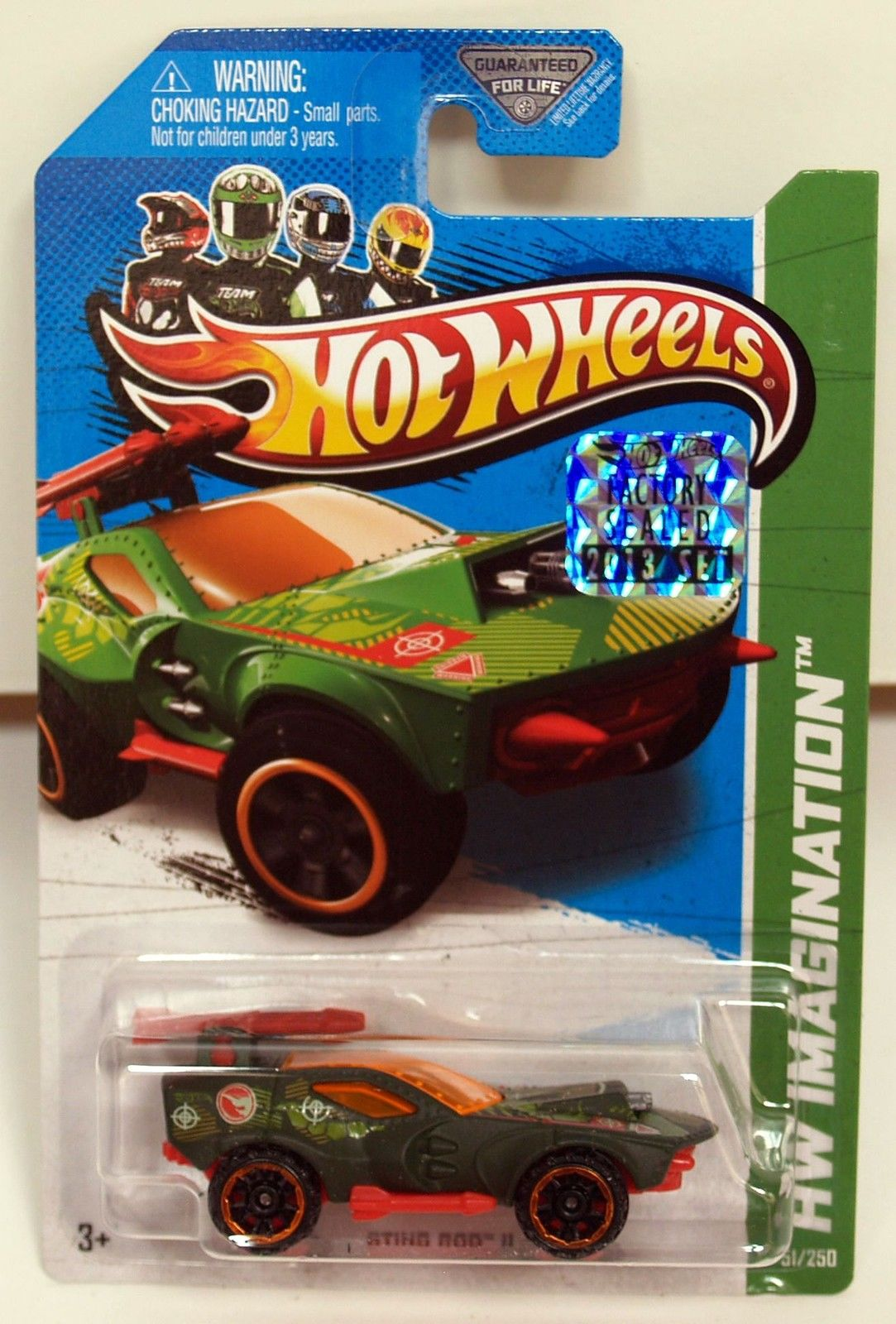 HOT WHEELS 2013 HW IMAGINATION REGULAR TREASURE HUNT STING ROD II FACTORY SEALED