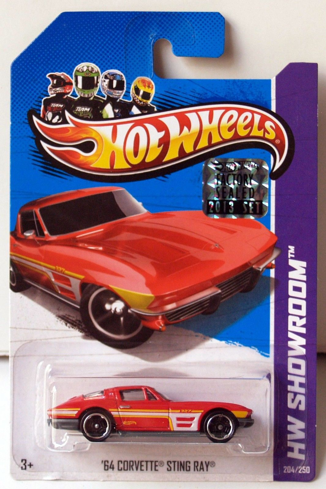 HOT WHEELS 2013 HW SHOWROOM '64 CORVETTE STING RAY RED FACTORY SEALED