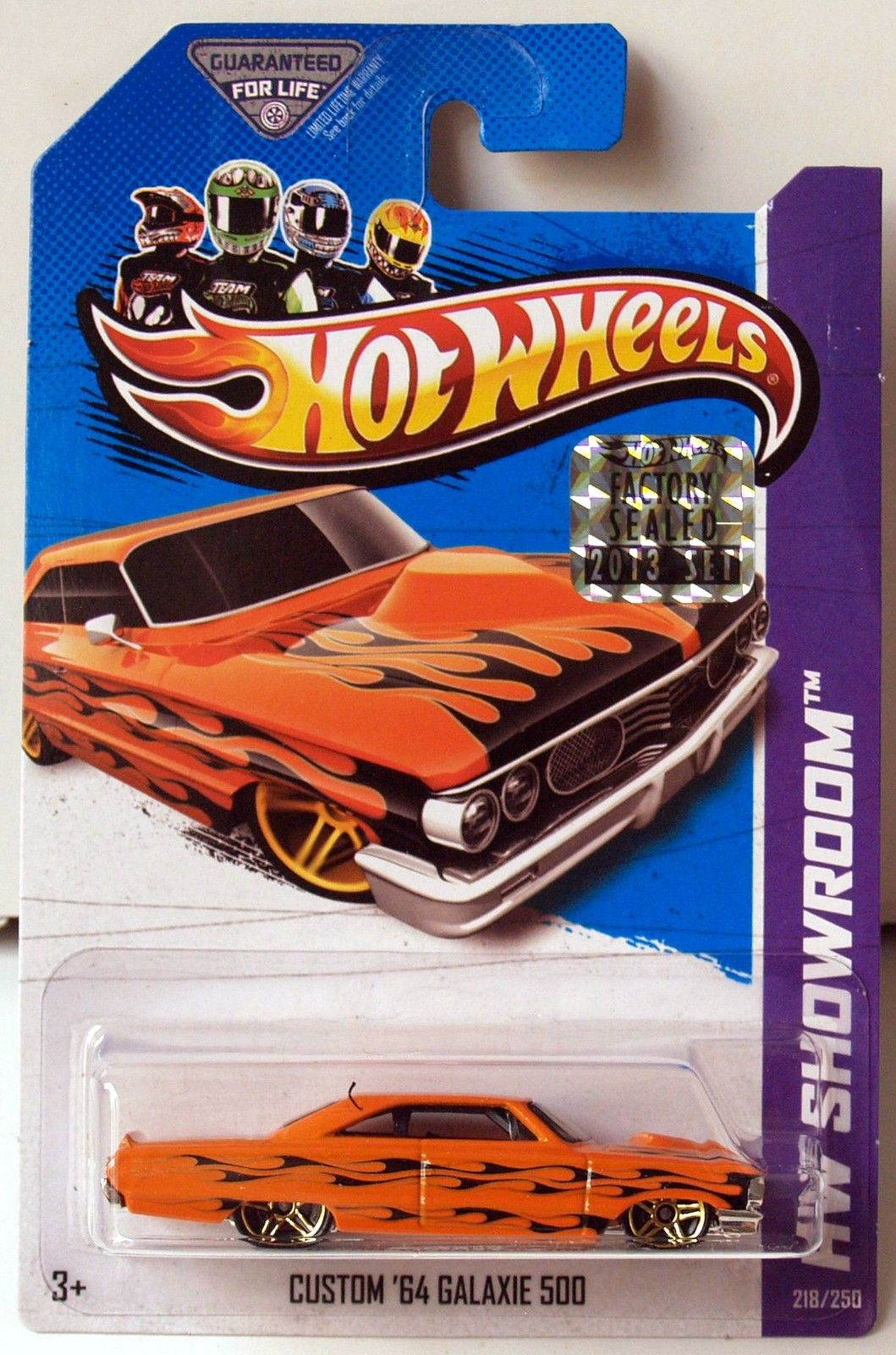 HOT WHEELS 2013 HW SHOWROOM - HEAT FLEET CUSTOM '64 GALAXIE 500 FACTORY SEALED