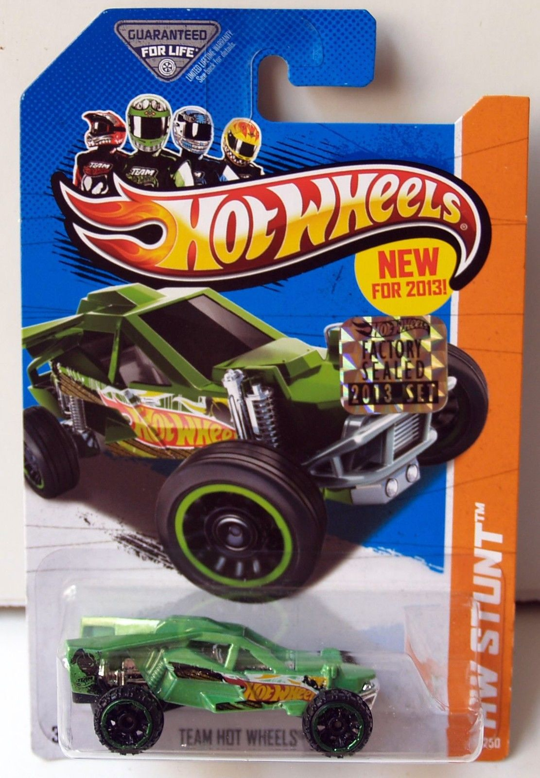 HOT WHEELS 2013 HW STUNT ROAD RALLY TEAM HOT WHEELS BUGGY GREEN FACTORY SEALED