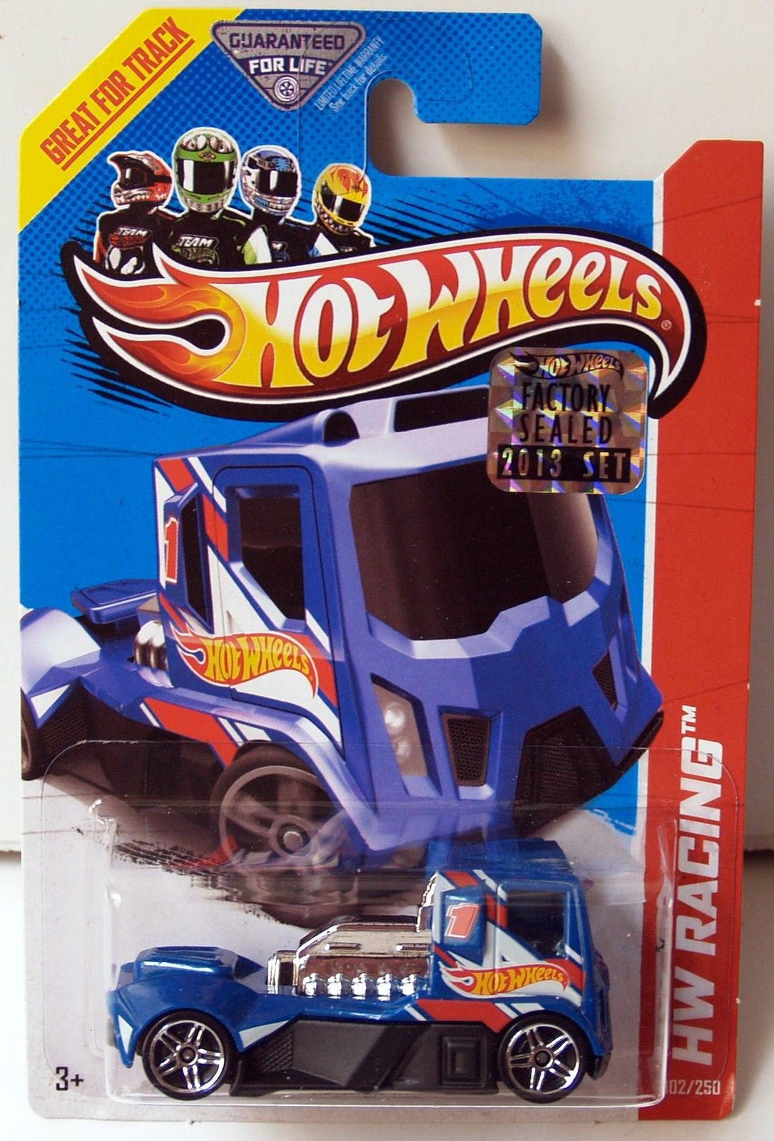 HOT WHEELS 2013 HW RACING - HW RACE TEAM RENNEN RIG BLUE FACTORY SEALED
