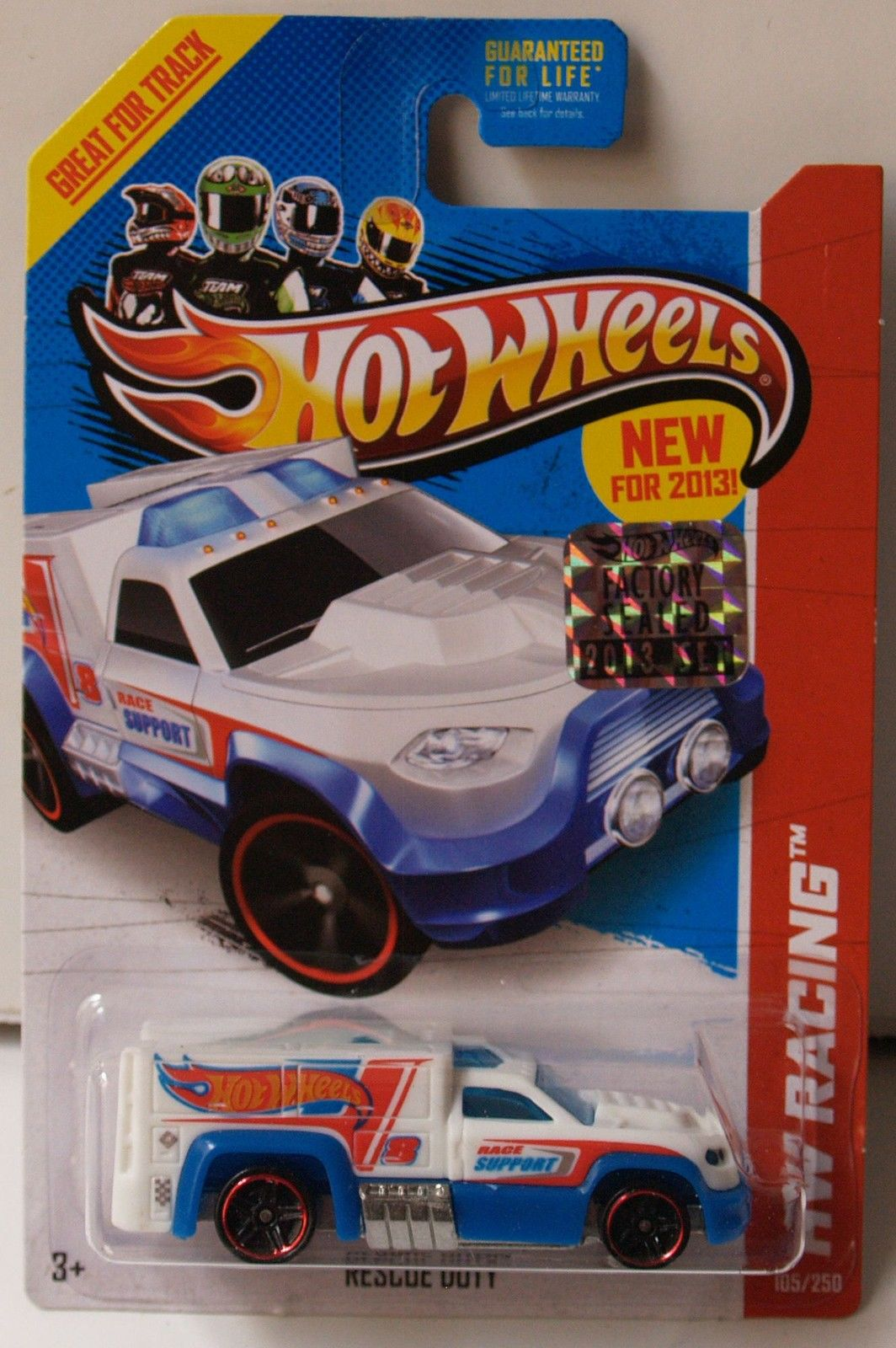 HOT WHEELS 2013 HW RACING HW RACE TEAM RESCUE DUTY FACTORY SEALED