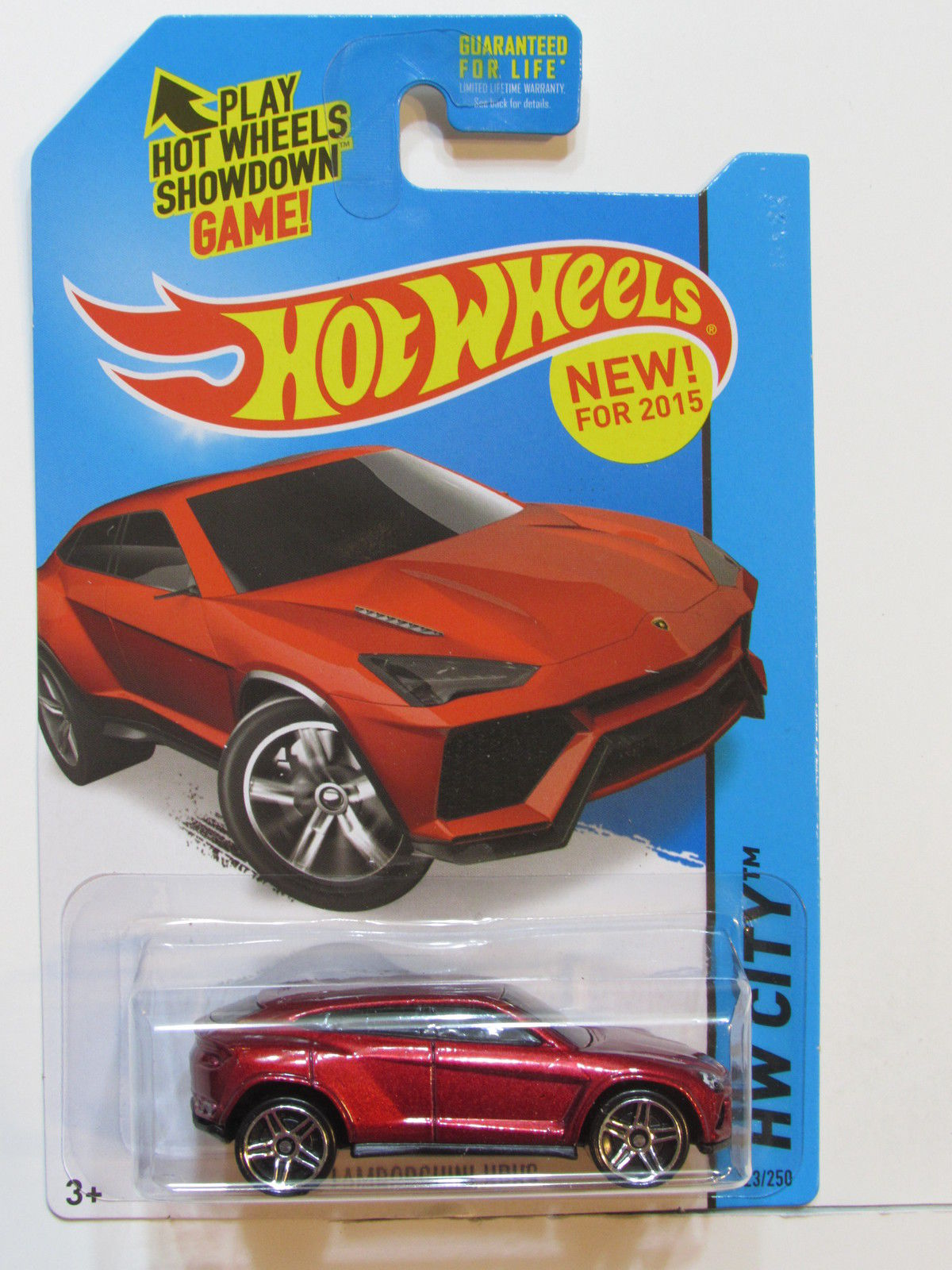 HOT WHEELS 2015 HW CITY - STREET POWER LAMBORGHINI URUS RED