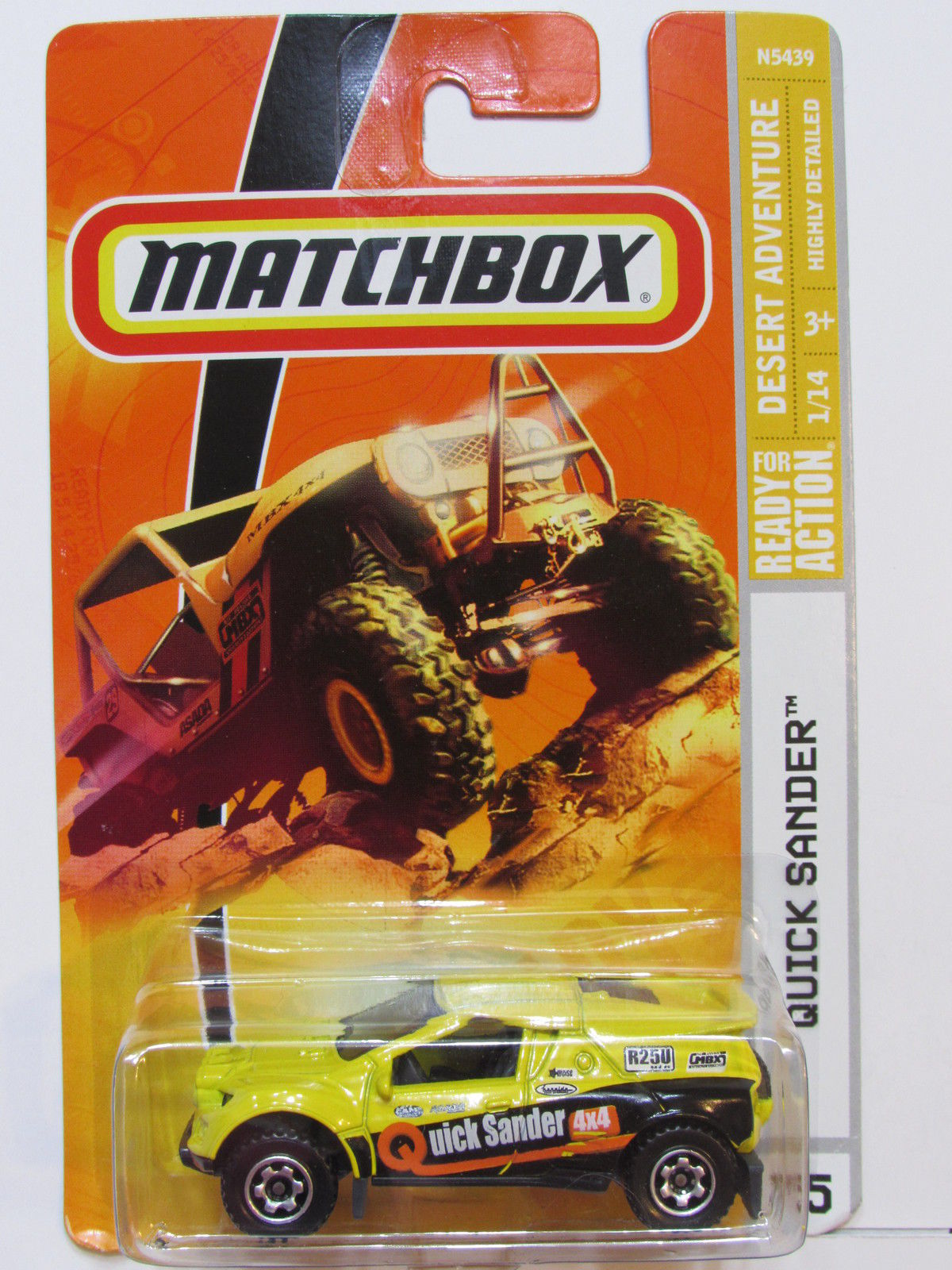 MATCHBOX 2008 QUICK SANDER #75 YELLOW