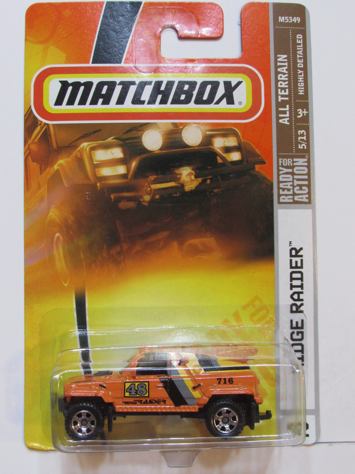 MATCHBOX 2007 RIDGE RAIDER ORANGE #92