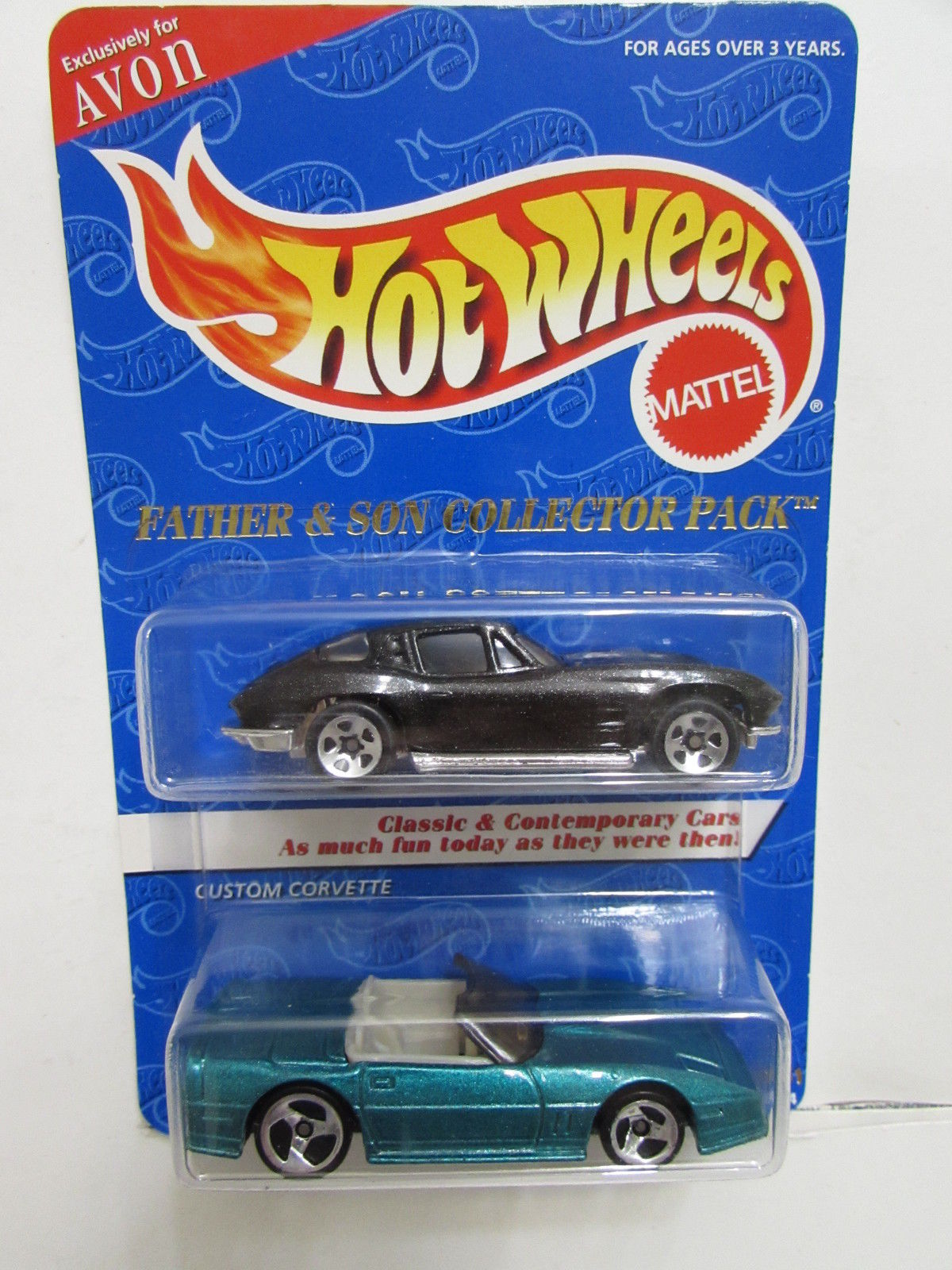 HOT WHEELS FATHER & SON COLLECTOR 2 CAR PACK SPLIT WINDOW CORVETTE - CUSTOM