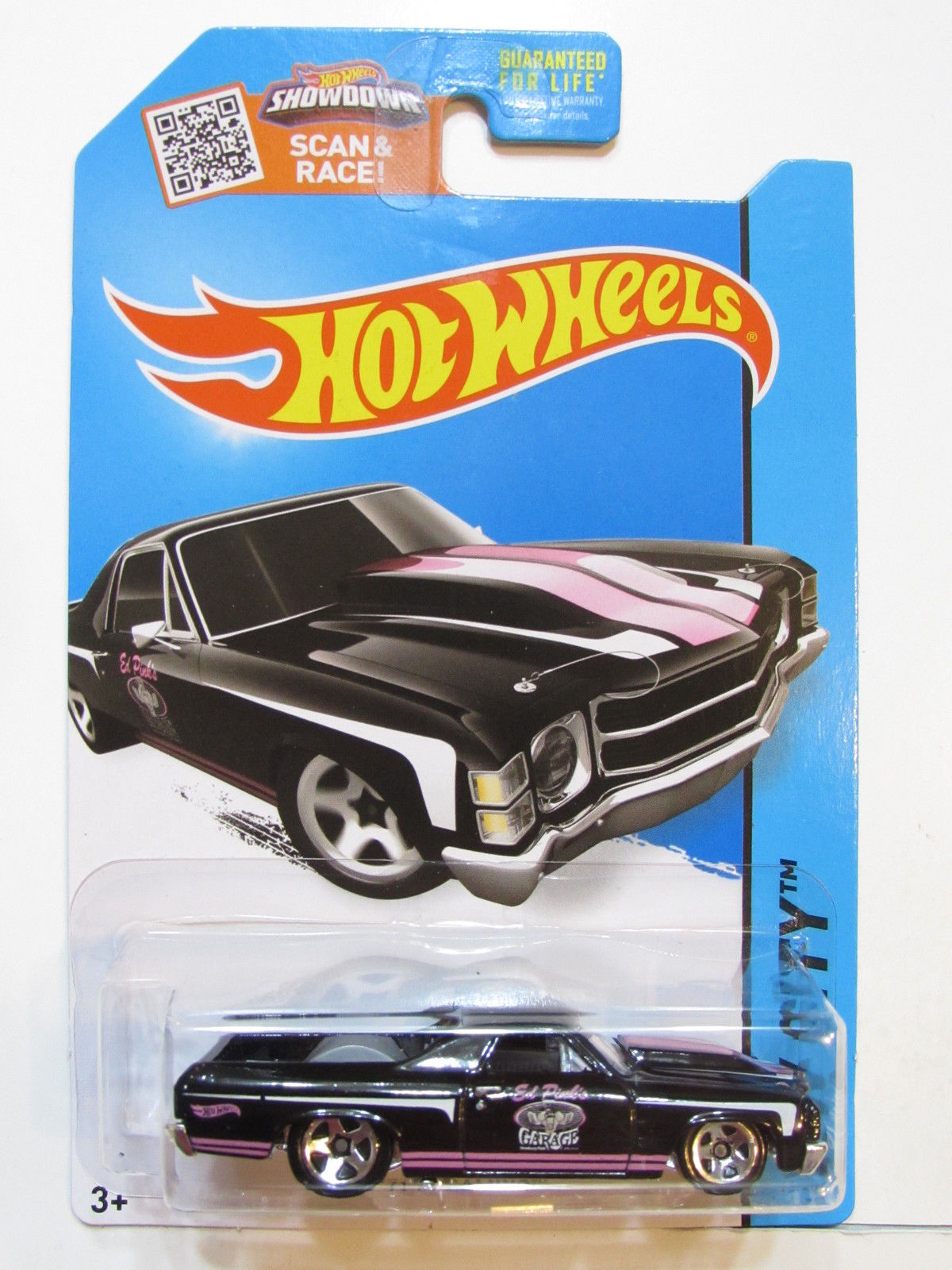 HOT WHEELS 2015 HW CITY - HW PERFORMANCE '71 EL CAMINO BLACK E+