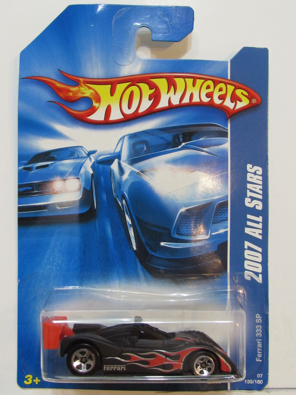 HOT WHEELS 2007 ALL STARS FERRARI 333 SP BLACK