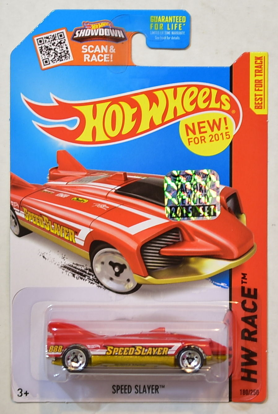 HOT WHEELS 2015 HW RACE - TRACK ACES SPEED SLAYER FACTORY SEALED