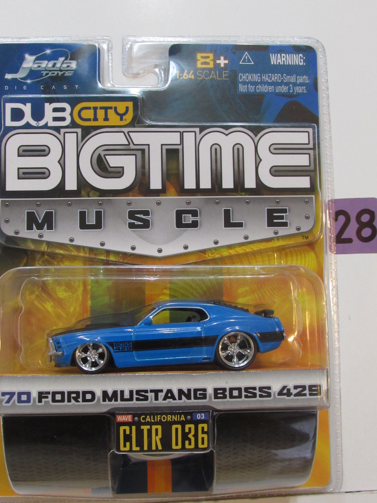 JADA DUB CITY BIGTIME MUSCLE '70 FORD MUSTANG BOSS 429 CLTR 036 BLUE
