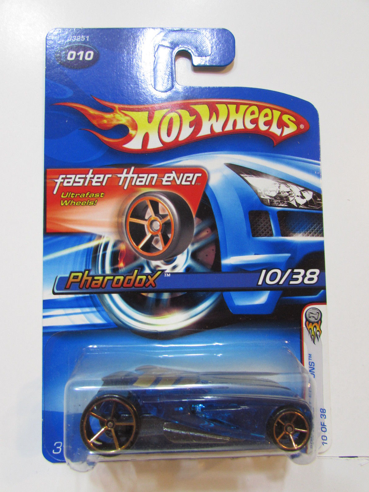 HOT WHEELS 2006 FIRST EDITIONS FTE PHARODOX #010 BLUE