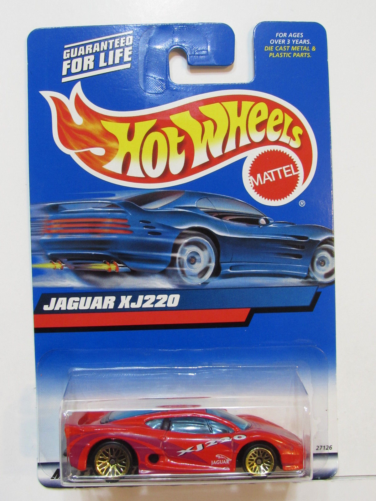HOT WHEELS 2000 JAGUAR XJ220 RED