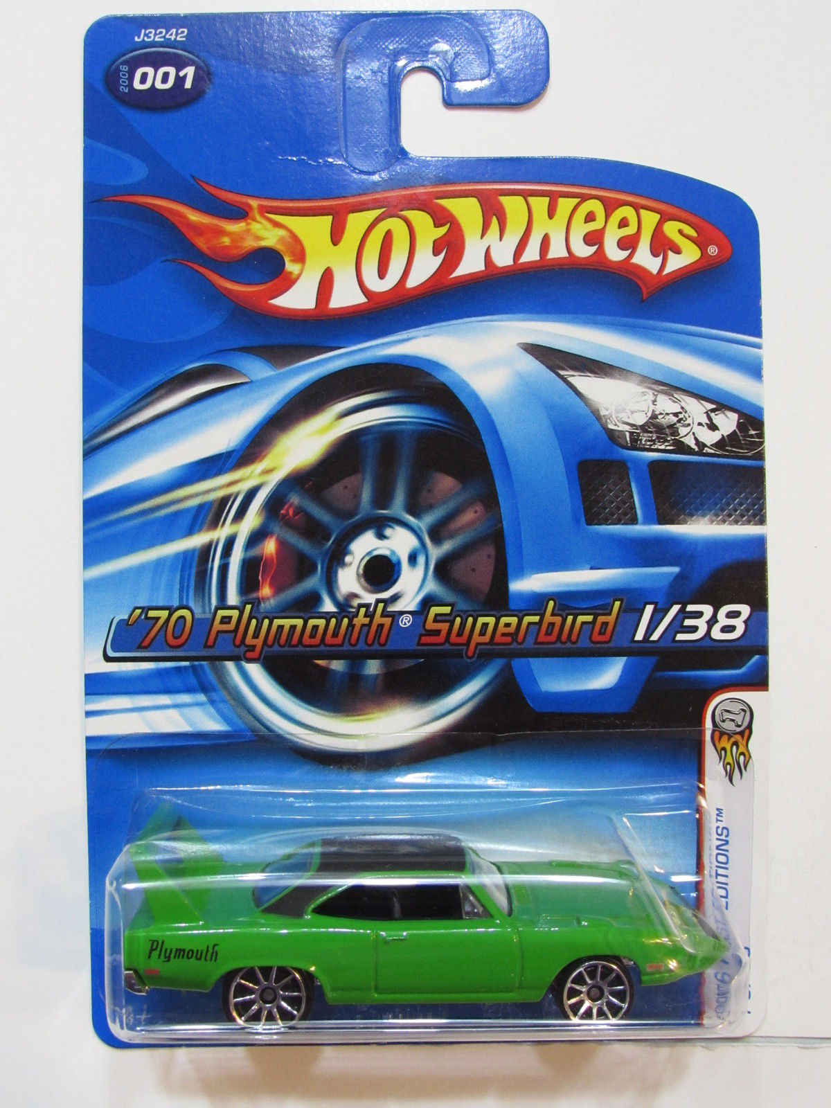 HOT WHEELS 2006 FIRST EDITIONS '70 PLYMOUTH SUPERBIRD GREEN