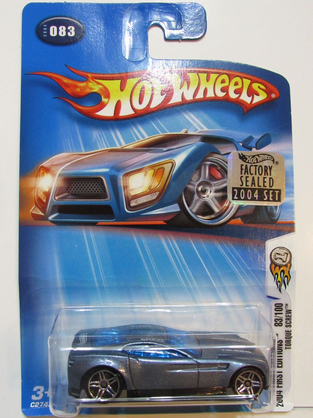 HOT WHEELS 2004 FIRST EDITIONS TORQUE SCREW #083 FACTORY SEALED