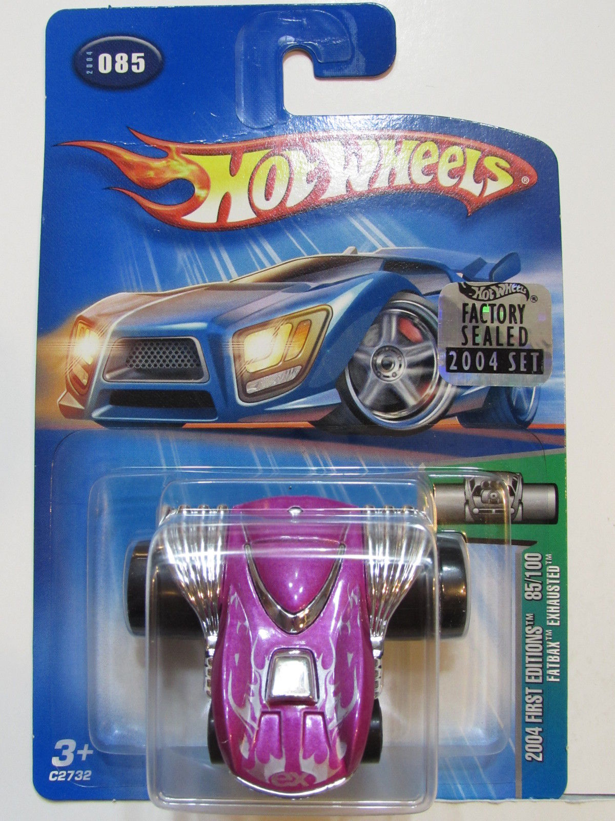 HOT WHEELS 2004 FIRST EDITIONS FATBAX EXHAUSTED #085 FACTORY SEALED