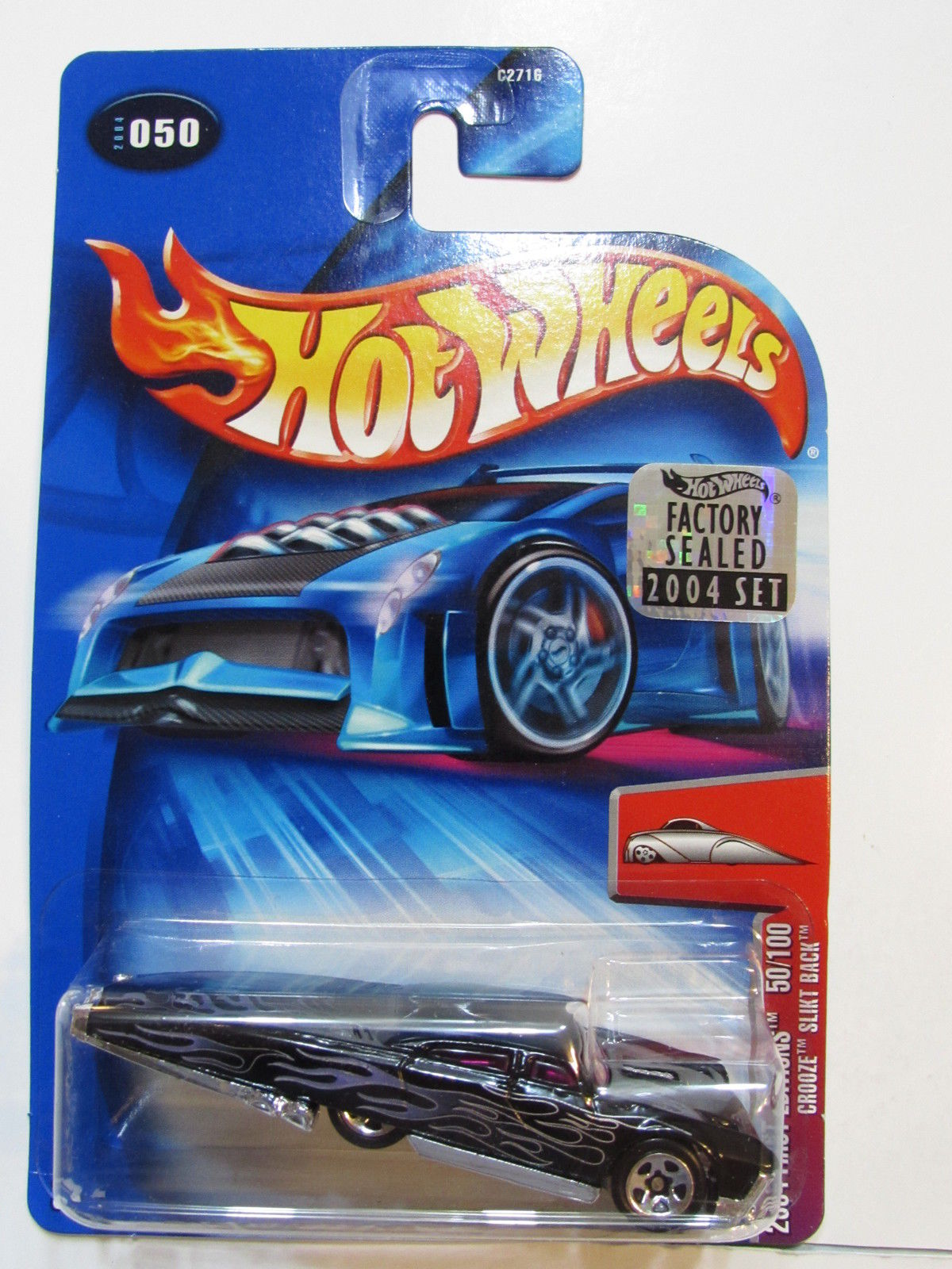 HOT WHEELS 2004 FIRST EDITION CROOZE SLIKT BACK #50 FACTORY SEALED