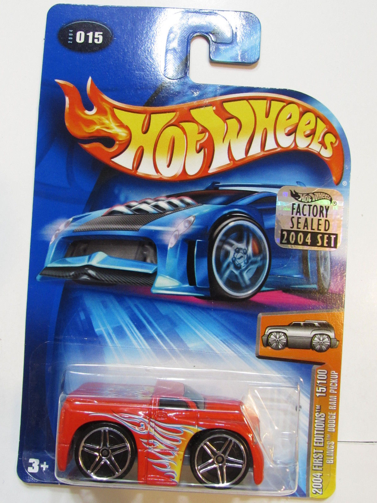 HOT WHEELS 2004 FIRST EDITIONS BLINGS DODGE PICKUP #015 FACTORY SEALED