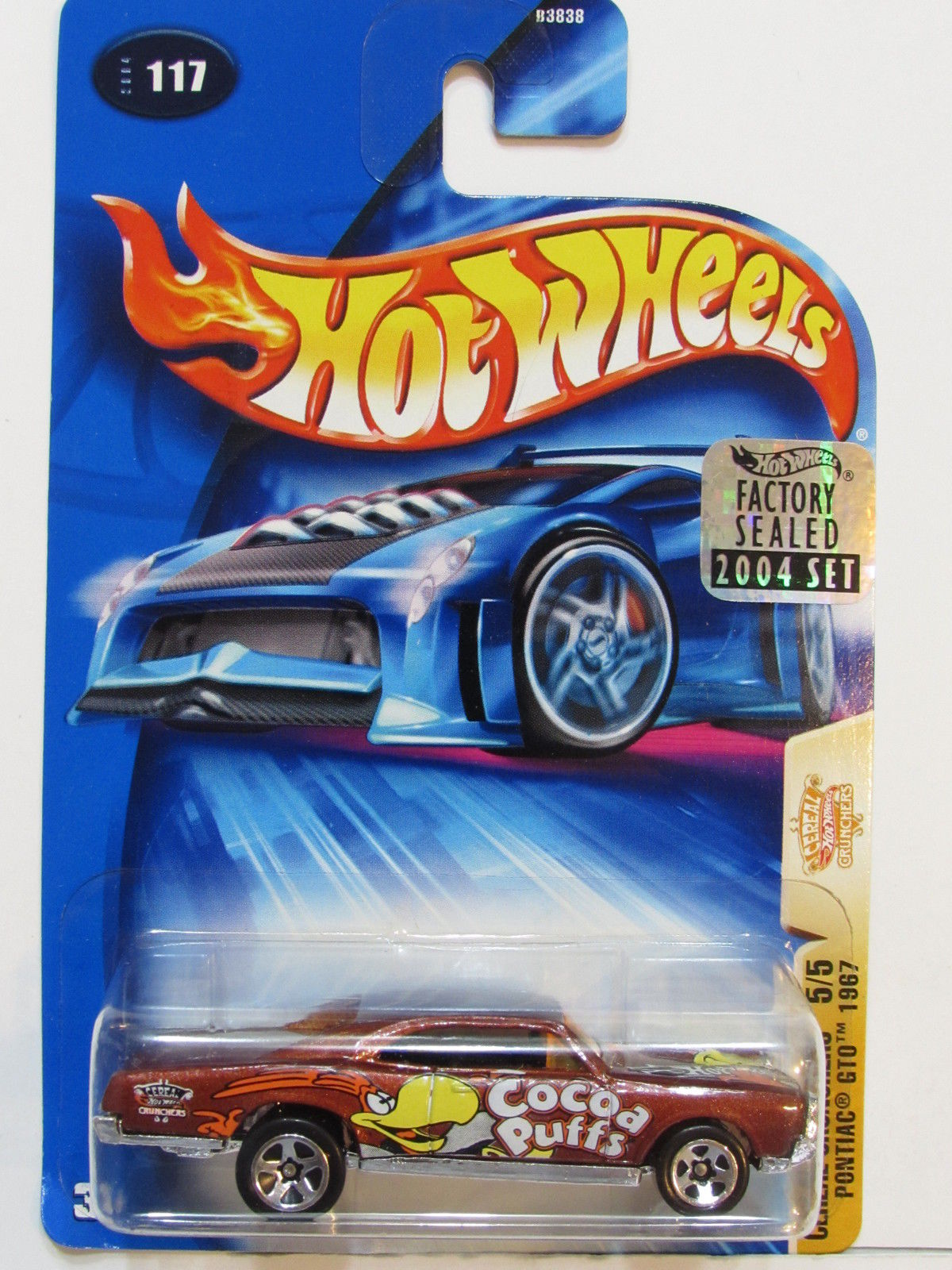 HOT WHEELS 2004 CEREAL CRUNCHERS PONTIAC GTO 1967 #117 FACTORY SEALED