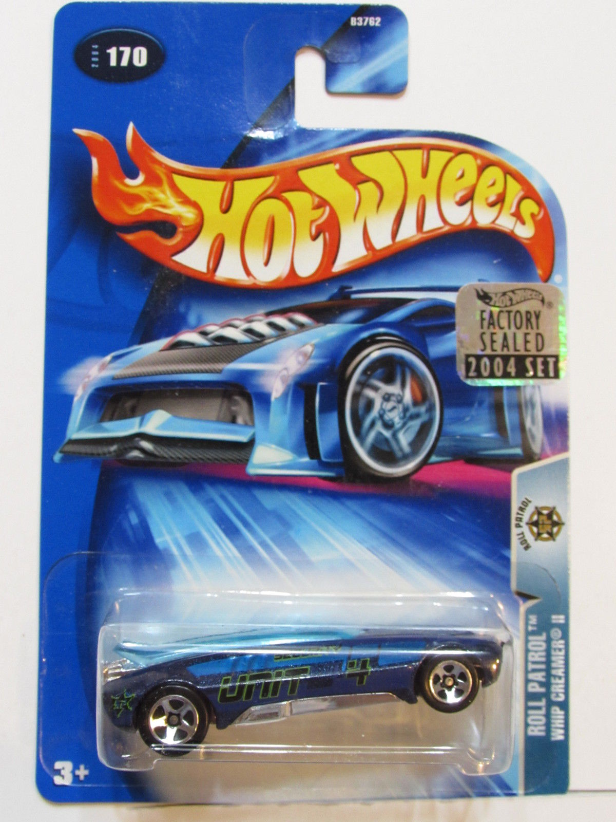 HOT WHEELS 2004 ROLL PATROL WHIP CREAMER #170 FACTORY SEALED