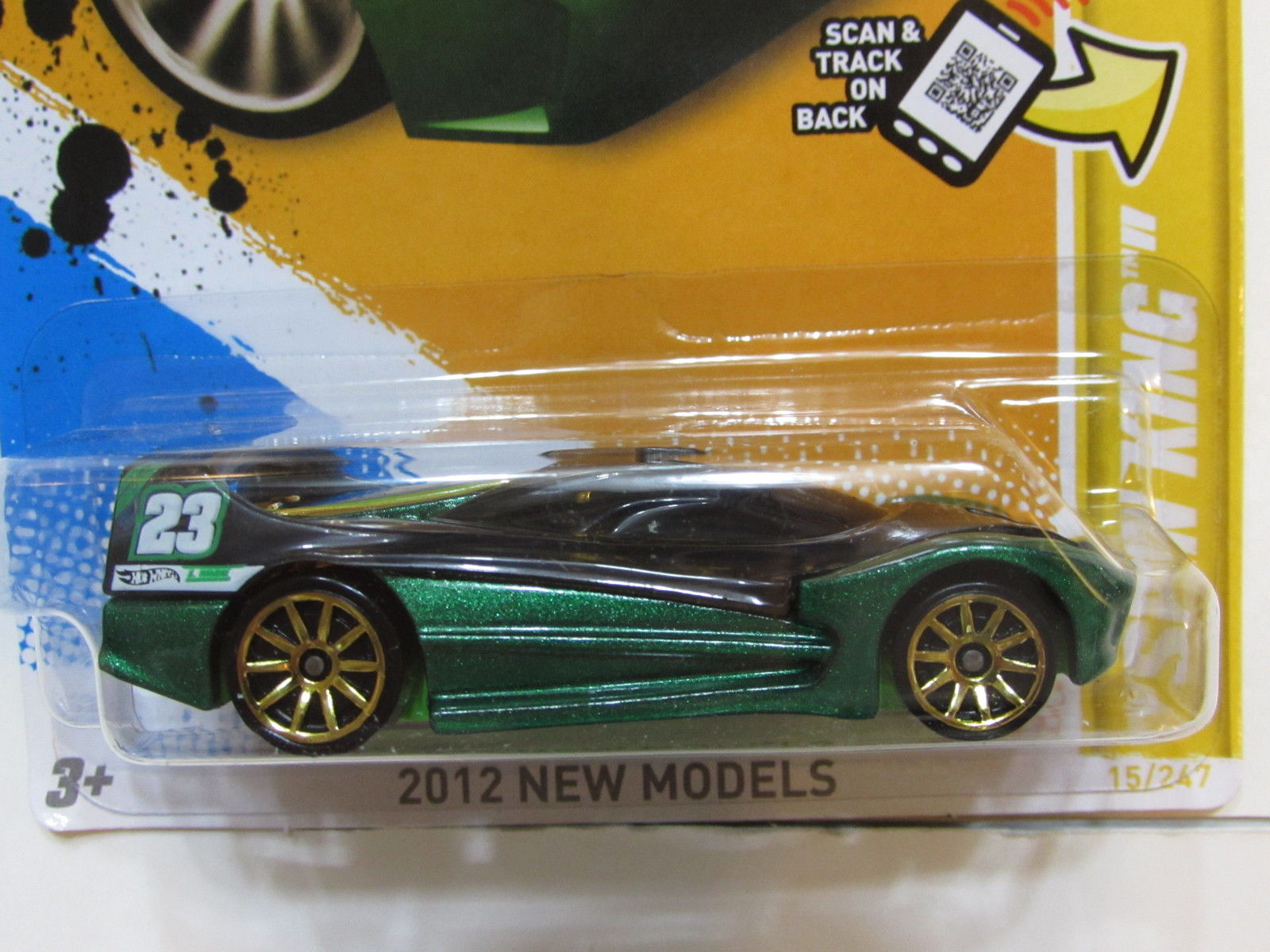 HOT WHEELS 2012 NEW MODELS - SPIN KING GREEN FACTORY SEALED