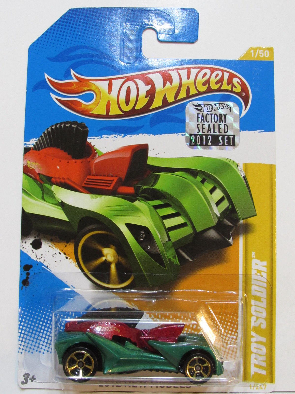 HOT WHEELS 2012 NEW MODELS - TROY SOLDIER FACTORY SEALED
