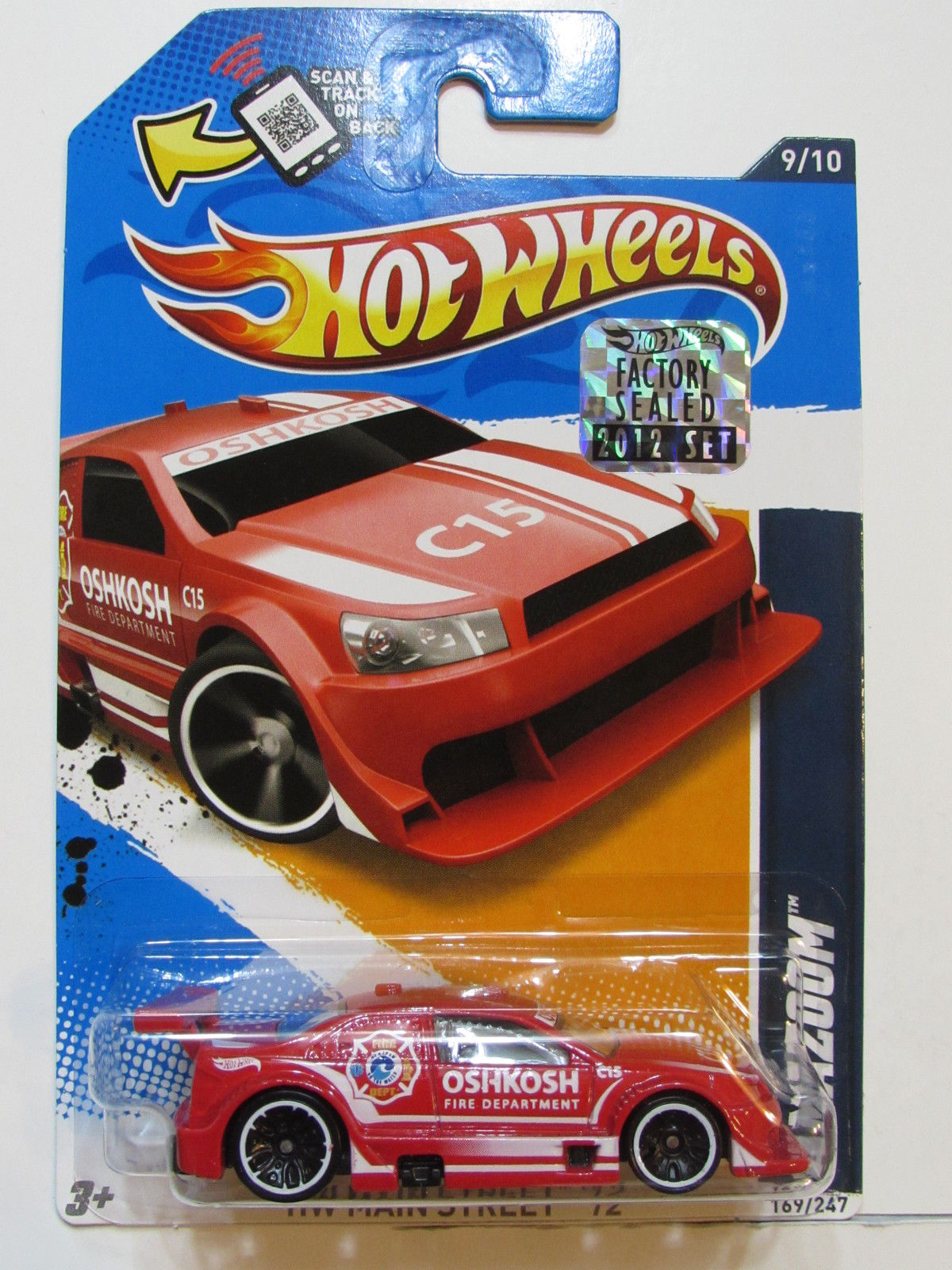 HOT WHEELS 2012 HW MAIN STREET AMAZOOM FACTORY SEALED