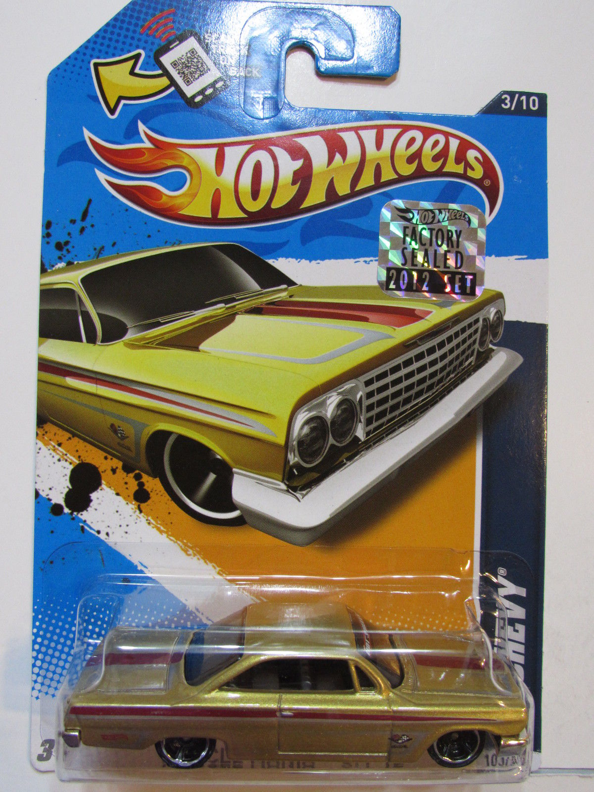 HOT WHEELS 2012 MUSCLE MANIA '62 CHEVY W/ HW LOGO FACTORY SEALED