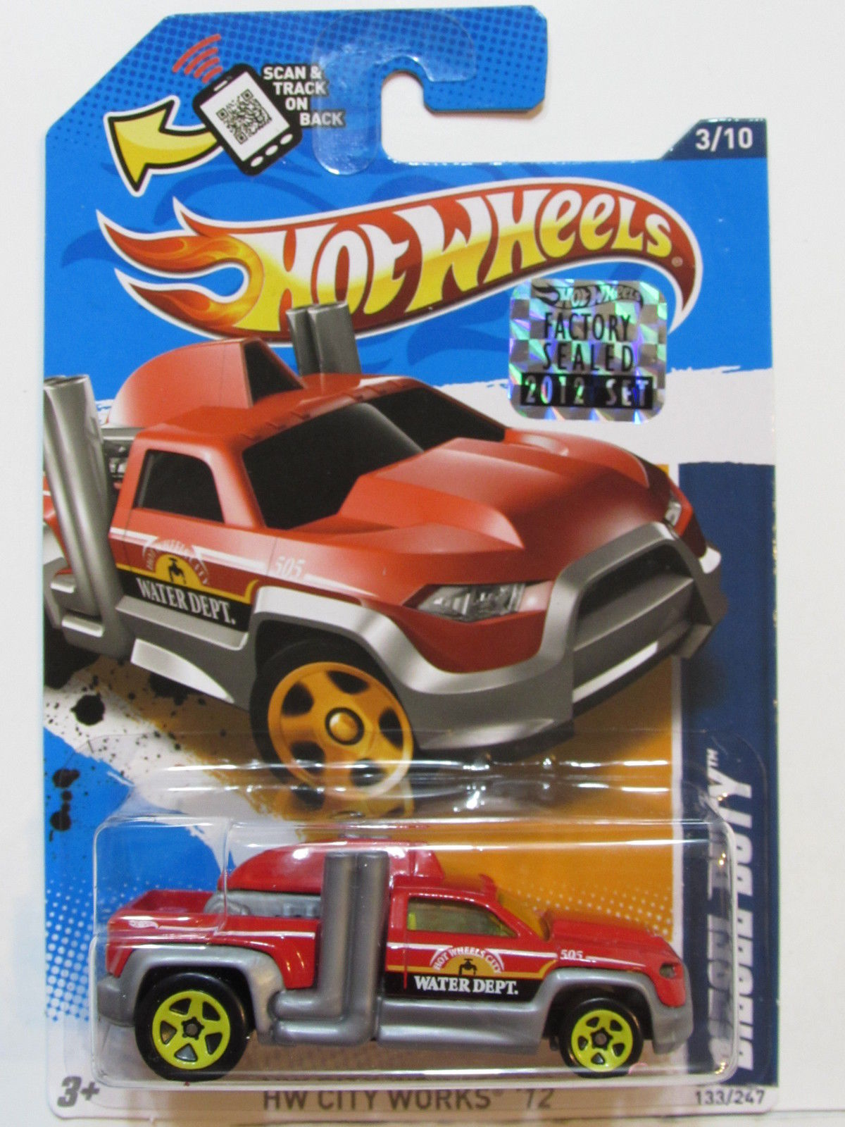 HOT WHEELS 2012 CITY WORKS DIESEL DUTY RED FACTORY SEALED