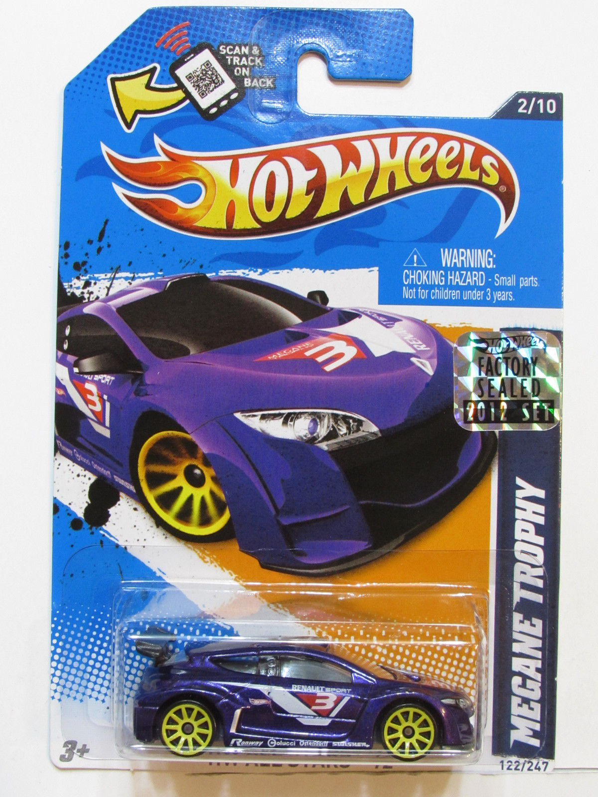 HOT WHEELS 2012 HW ALL STARS MEGANE TROPHY FACTORY SEALED