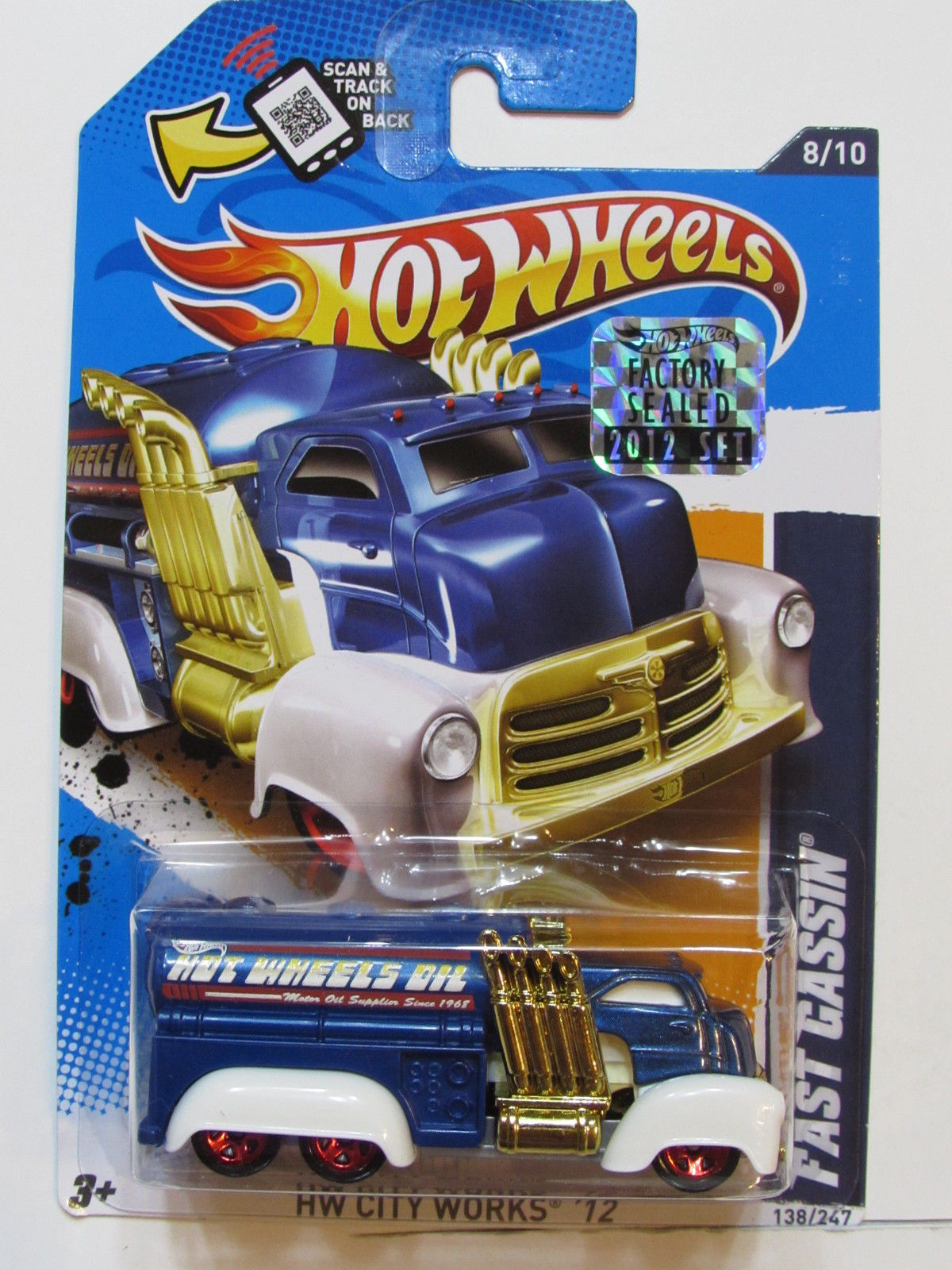 HOT WHEELS 2012 HW CITY WORKS FAST GASSIN BLUE FACTORY SEALED